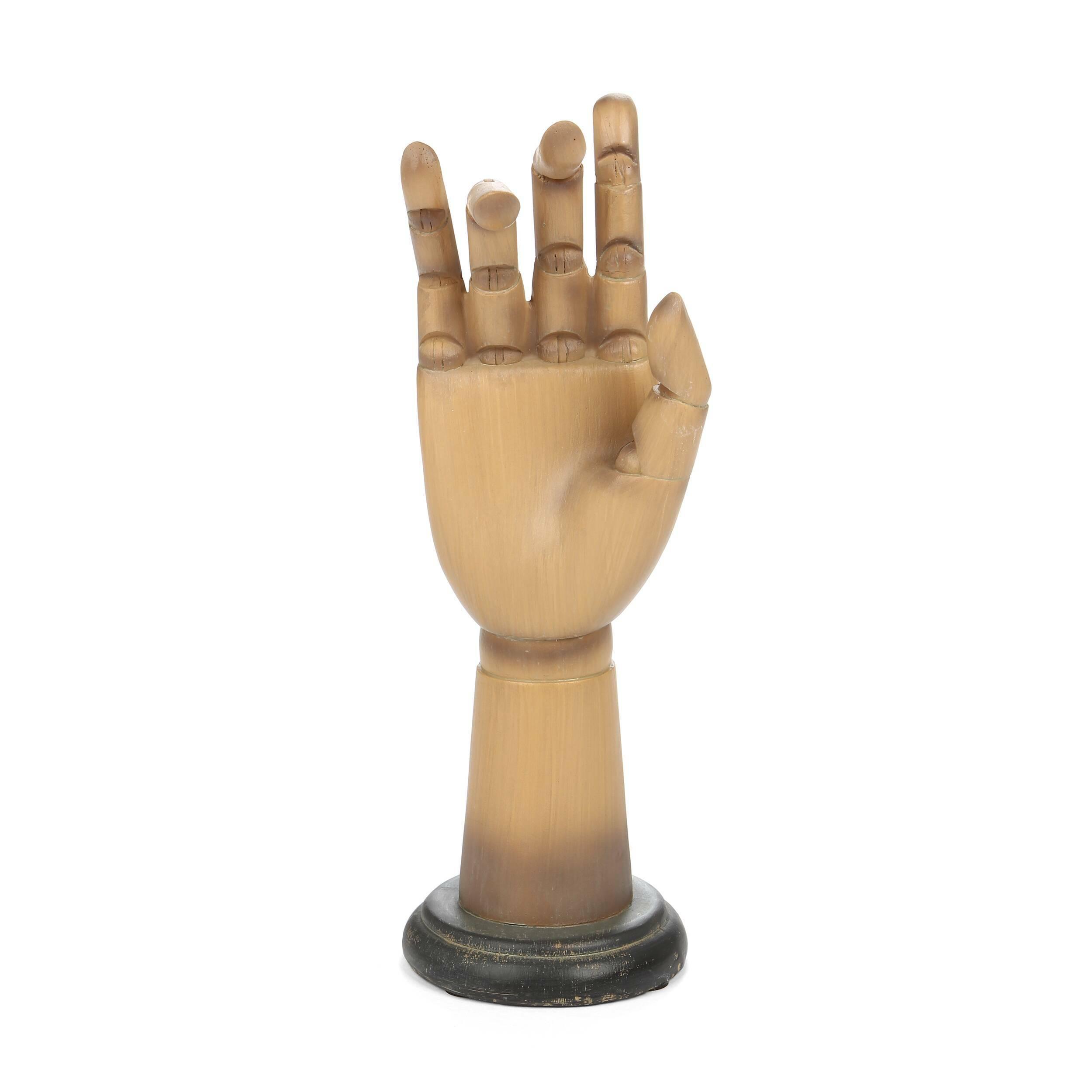 Статуэтка Jewelry Stand 1Настольные<br>Дизайнерская коричневая статуэтка Jewelry Stand (Юверли Стэнд) из смолы в форме руки от Cosmo (Космо).<br><br><br> Во все времена предметы декорирования комнат могли быть не просто прекрасным украшением помещения, но и имели весьма практичный характер. Особенно это касается представительниц прекрасного пола, которые из любого декора и из любой мелочи могут сделать нужную и практичную вещь. Именно такой является статуэтка Jewelry Stand 1.<br><br><br> Статуэтка Jewelry Stand 1 не только интересный элеме...<br><br>stock: 2<br>Высота: 30.7<br>Ширина: 10.5<br>Материал: Смола<br>Цвет: Коричневый<br>Длина: 11.8<br>Цвет дополнительный: Черный