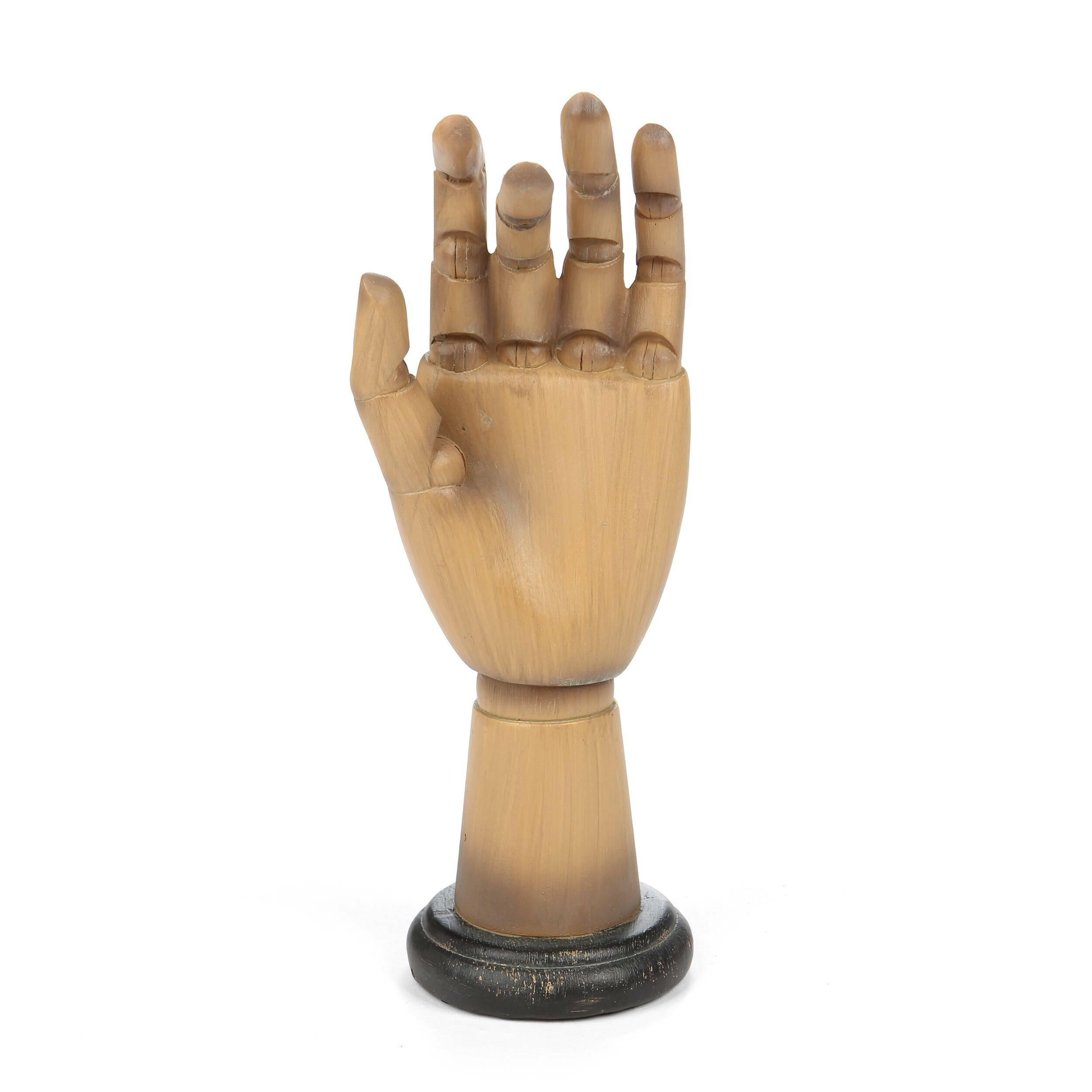 Статуэтка Jewelry Stand 2Настольные<br>Дизайнерская декоративная коричневая статуэтка Jewelry Stand (Юверли Стэнд) из смолы в форме руки от Cosmo (Космо).<br><br><br> У многих женщин, ценящих стиль и красоту, имеется огромное количество украшений и бижутерии. И не удивительно, ведь к любому наряду нужно подобрать свой аксессуар. Но порой очень неудобно хранить все свои многочисленные украшения в коробке или шкатулке, которые уже буквально ломятся от всевозможных брошек, колец и подвесок. Для женщин, любящих порядок и комфорт, существ...<br><br>stock: 6<br>Высота: 24<br>Ширина: 9<br>Материал: Смола<br>Цвет: Коричневый<br>Длина: 9.5<br>Цвет дополнительный: Черный