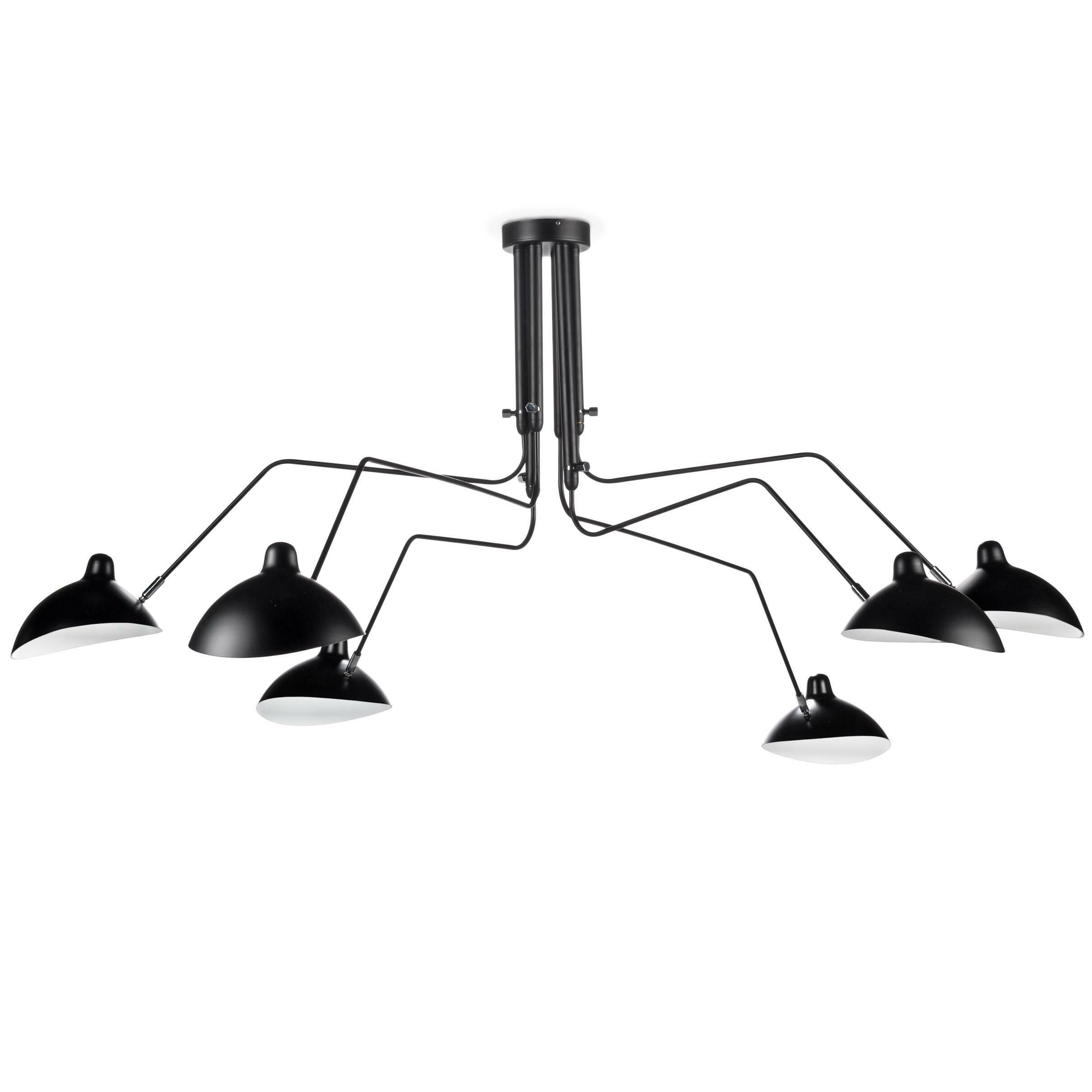 Потолочный светильник Spider Mouille 6 ламп