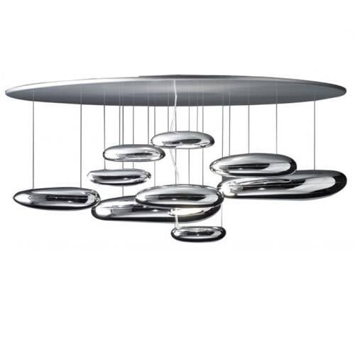 Потолочный светильник MercuryПотолочные<br>Потолочный светильник Mercury рассчитан на помещения с высокими потолками, он также будет отличным выбором для тех, кто ищет люстру для создания второго света. Если в помещении должно возникать ощущение большого, легкого и воздушного пространства, творение всемирно известного британского дизайнера Росса Лавгроува будет незаменимо, оно отлично впишется в среду и не будет отягощать интерьер.<br><br><br><br><br> Днем от комбинации стекла и металла веет прохладой и загадочностью, а вечером отражающийся...<br><br>stock: 0<br>Высота: 65<br>Диаметр: 110<br>Материал абажура: Алюминий<br>Материал арматуры: Сталь<br>Ламп в комплекте: Нет<br>Напряжение: 220<br>Тип лампы/цоколь: R7s<br>Цвет абажура: Хром