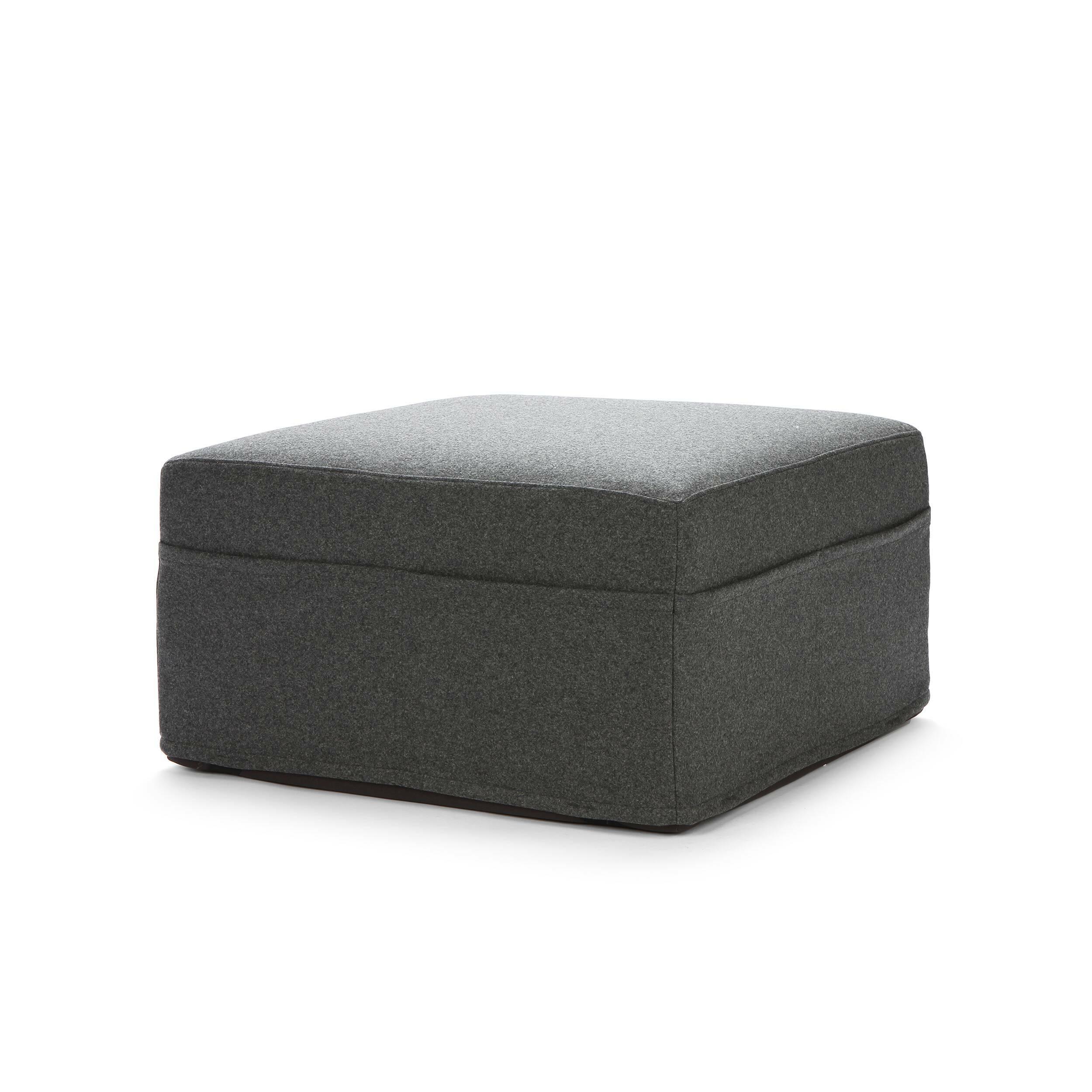 Пуф TrioПуфы и оттоманки<br>Пуф Trio — очень замысловатый предмет мебели, настоящий трансформер. Пуф в два счета можно превратить в полноценное спальное место. Это крайне удобно для городских жителей, поскольку в квартирах каждый сантиметр свободного пространства на вес золота.<br> <br> Trio состоит из складывающегося втрое матраса. На нем можно разместить гостей, также он удобен для семей с детьми, ведь дети часто любят играть на полу. Этот пуф не только функциональное, но стильное дополнение к вашему современному интерьер...<br><br>stock: 0<br>Высота: 36<br>Ширина: 65<br>Глубина: 65<br>Материал сидения: Войлок<br>Цвет сидения: Серый<br>Тип материала сидения: Ткань