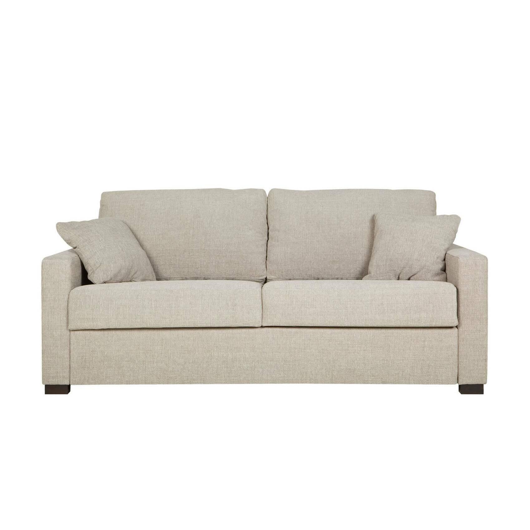 Диван Lukas раскладной трехместныйРаскладные<br>Дизайнерский удобный раскладной диван Lukas (Лукас) с тканевой обивкой на черных ножках от Sits (Ситс).<br> Необычайно удобный диван Lukas раскладной трехместный является ярким представителем строгой, но элегантной классики. Дизайнеры известнейшей компания мягкой мебели Sits не только создали диван приятных простых форм, но и придали ему легкий изысканный шарм, который способен преобразить все помещение. Lukas также снабжен маленькими декоративными подушками, что делает его внешний вид особенн...<br><br>stock: 0<br>Высота: 88<br>Высота сиденья: 48<br>Глубина: 100<br>Длина: 196<br>Цвет ножек: Черный<br>Механизмы: Раскладной<br>Материал обивки: Полиэстер<br>Степень комфортности: Стандарт комфорт<br>Форма подлокотников: Armrest II<br>Коллекция ткани: Категория ткани III<br>Тип материала обивки: Ткань<br>Тип материала ножек: Дерево<br>Размер спального места (см): 195х140<br>Цвет обивки: Бежевый