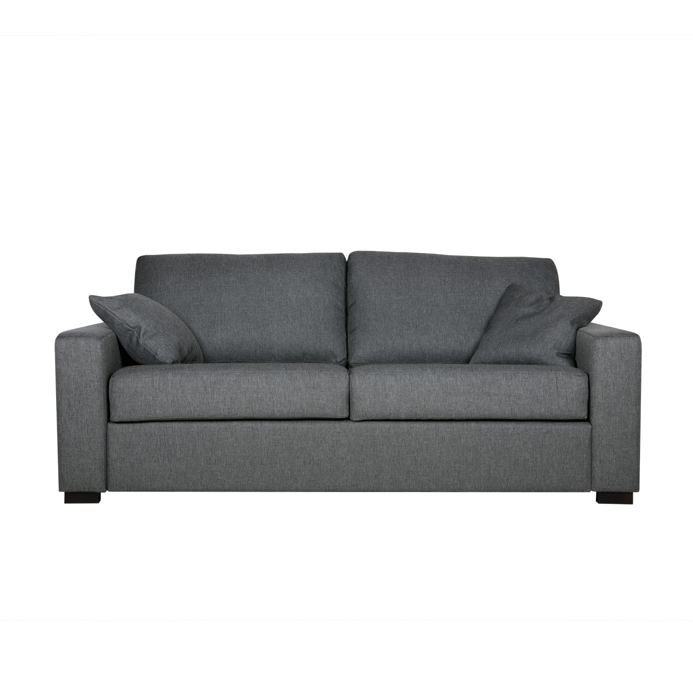 Диван Lukas раскладной трехместныйРаскладные<br>Дизайнерский удобный раскладной диван Lukas (Лукас) с тканевой обивкой на черных ножках от Sits (Ситс).<br> Необычайно удобный диван Lukas раскладной трехместный является ярким представителем строгой, но элегантной классики. Дизайнеры известнейшей компания мягкой мебели Sits не только создали диван приятных простых форм, но и придали ему легкий изысканный шарм, который способен преобразить все помещение. Lukas также снабжен маленькими декоративными подушками, что делает его внешний вид особенн...<br><br>stock: 0<br>Высота: 88<br>Высота сиденья: 48<br>Глубина: 100<br>Длина: 196<br>Цвет ножек: Черный<br>Механизмы: Раскладной<br>Материал обивки: Акрил, Полиэстер, Хлопок<br>Степень комфортности: Стандарт комфорт<br>Форма подлокотников: Armrest II<br>Коллекция ткани: Категория ткани II<br>Тип материала обивки: Ткань<br>Тип материала ножек: Дерево<br>Размер спального места (см): 195х140<br>Цвет обивки: Темно-серый