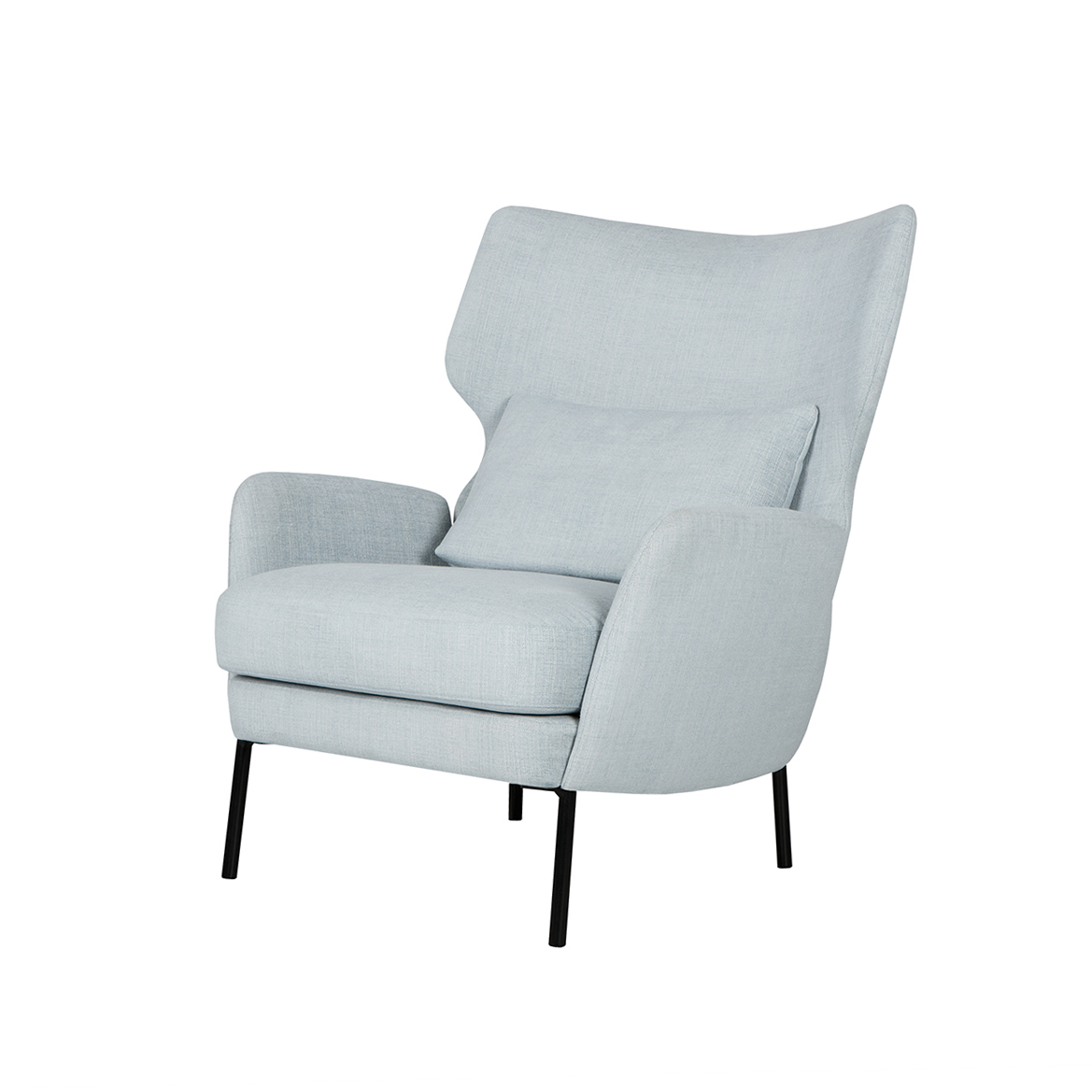 Кресло AlexИнтерьерные<br>Дизайнерское большое стильное кресло Alex (Алекс) из хлопка, льна, полиэстера от Sits (Ситс).<br><br><br> Утонченный вкус и минимум деталей — вот то, что отличает современный стиль в интерьере, что придает ему интересный характер и дарит большое количество пространства и свободы. Сегодня не только стиль и свободное пространство имеют значение в мебельной обстановке комнат, но и уровень качества и удобства используемой мебели. Представленное здесь кресло полностью отвечает этим требованиям и пора...<br><br>stock: 0<br>Высота: 93<br>Высота сиденья: 43<br>Ширина: 79<br>Глубина: 93<br>Цвет ножек: Черный<br>Материал обивки: Полиэстер, Вискоза, Хлопок, Лен<br>Степень комфортности: Стандарт комфорт<br>Форма подлокотников: Стандарт<br>Коллекция ткани: Категория ткани IV<br>Тип материала обивки: Ткань<br>Тип материала ножек: Металл<br>Цвет обивки: Светло-бирюзовый