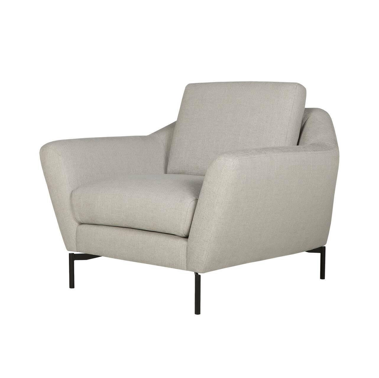 Кресло AgdaИнтерьерные<br>Дизайнерское комфортное классическое кресло Agda (Эгда) от Sits (Ситс).<br><br>Оригинальное кресло Agda имеет невероятно удобную, анатомическую форму подлокотников и подушек, что позволит вам прекрасно отдохнуть в нем даже в рабочее время. Благодаря своим размерам кресло отлично подойдет не только для просторных комнат, но и для небольших помещений, где создаст комфортную и теплую атмосферу.<br> <br> Дизайн кресла разработан для бренда Say Who двумя талантливыми дизайнерами Каспером Мельдгаром и Ни...<br><br>stock: 0<br>Высота: 84<br>Высота сиденья: 48<br>Ширина: 104<br>Глубина: 94<br>Цвет ножек: Черный<br>Материал обивки: Вискоза, Хлопок, Полиамид, Лен<br>Степень комфортности: Стандарт комфорт<br>Форма подлокотников: Стандарт<br>Коллекция ткани: Категория ткани IV<br>Тип материала обивки: Ткань<br>Тип материала ножек: Металл<br>Цвет обивки: Светло-серый
