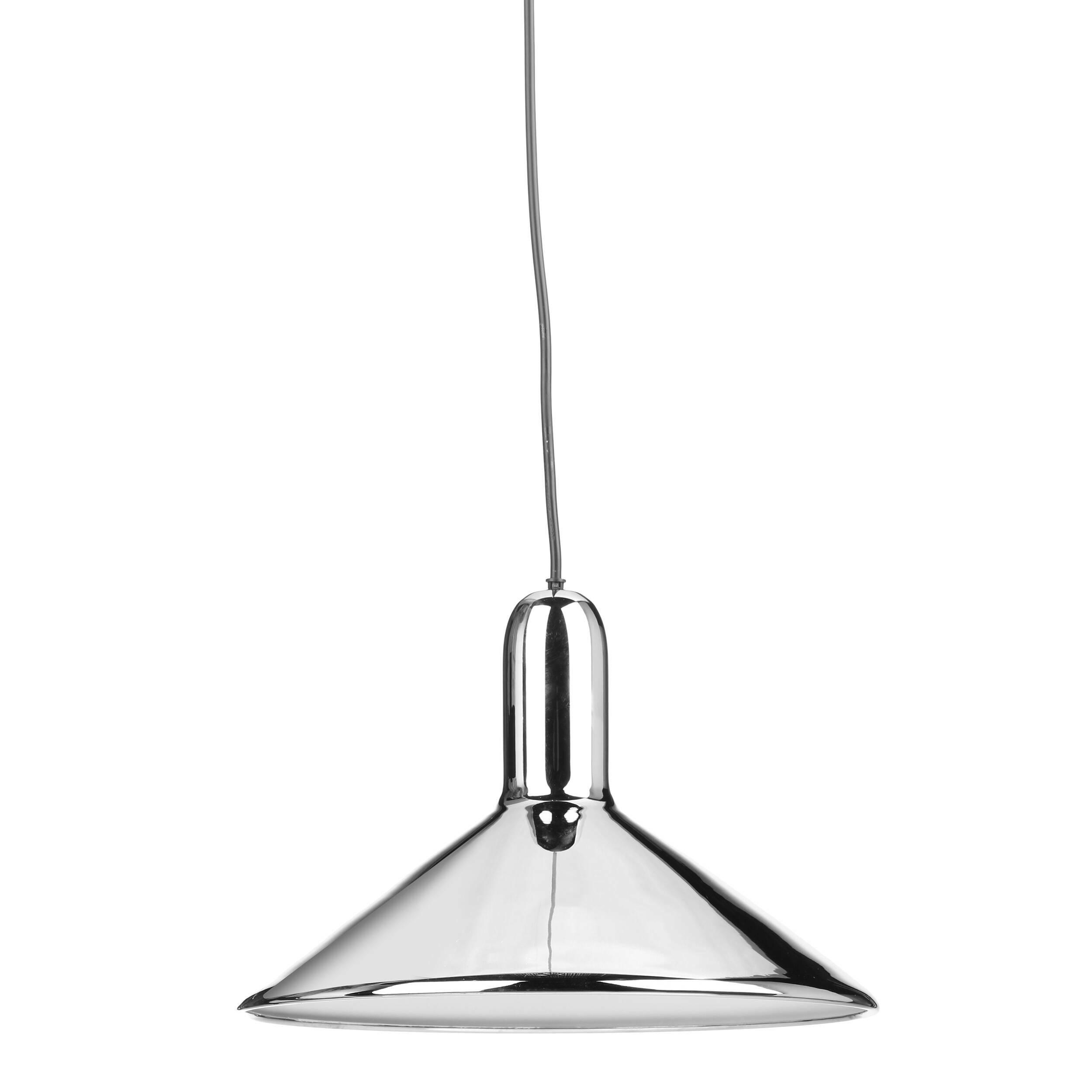 Подвесной светильник Torch диаметр 30Подвесные<br>Своему названию Torch (в переводе с английского «факел») подвесной светильник Torch диаметр 30 обязан прежде всего своей форме, которая действительно напоминает перевернутый факел. Но на самом деле на его создание талантливого бельгийского дизайнера Сильвена Вилленза вдохновило совсем не это, а… фары автомобиля. Многое в конструкции заимствовано именно оттуда. Универсальный цвет и блеск стали — то, что позволяет этому осветительному прибору вписаться в разнообразные интерьеры. <br><br><br> Подв...<br><br>stock: 0<br>Высота: 120<br>Диаметр: 30<br>Количество ламп: 1<br>Материал абажура: Сталь<br>Мощность лампы: 25<br>Ламп в комплекте: Нет<br>Напряжение: 220<br>Тип лампы/цоколь: E27<br>Цвет абажура: Хром