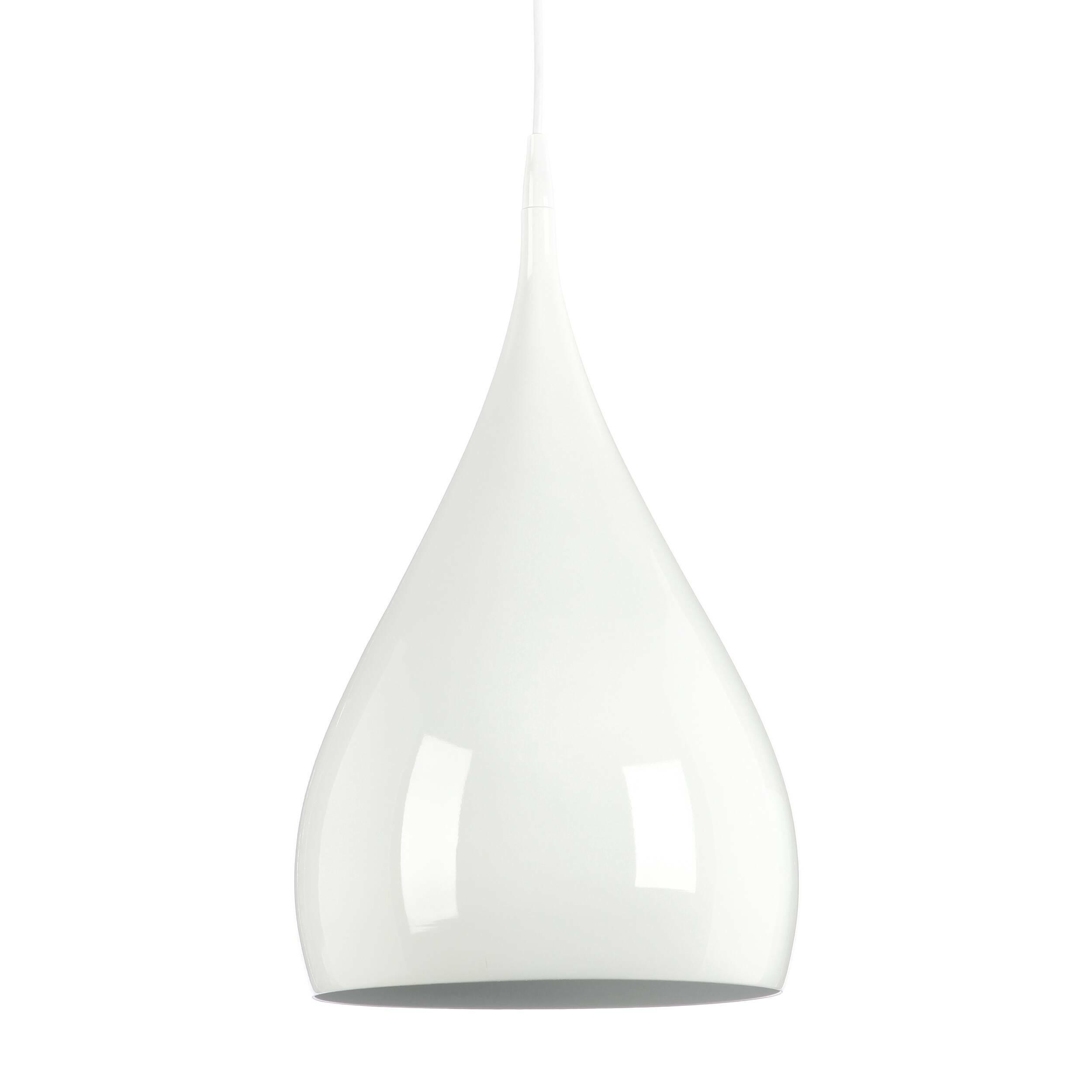 Подвесной светильник Spinning  BH1Подвесные<br>На создание подобной формы люстры, способной наполнить положительными эмоциями, дизайнера вдохновила любимая игрушка детства — волчок. В модели подвесного светильника Spinning сочетание формы и назначения преподносится в новой марене. Глянец, соблазнительность и надёжность, которые объединяются воедино в светильнике Spinning претендуют на право называться новой классикой. Дизайнер Бенджамин Хьюберт всегда тщательно ищет неожиданные решения и необычные материалы для своих работ, не торопяс...<br><br>stock: 0<br>Высота: 150<br>Диаметр: 25<br>Количество ламп: 1<br>Материал абажура: Алюминий<br>Мощность лампы: 60<br>Ламп в комплекте: Нет<br>Напряжение: 220<br>Тип лампы/цоколь: E27<br>Цвет абажура: Белый
