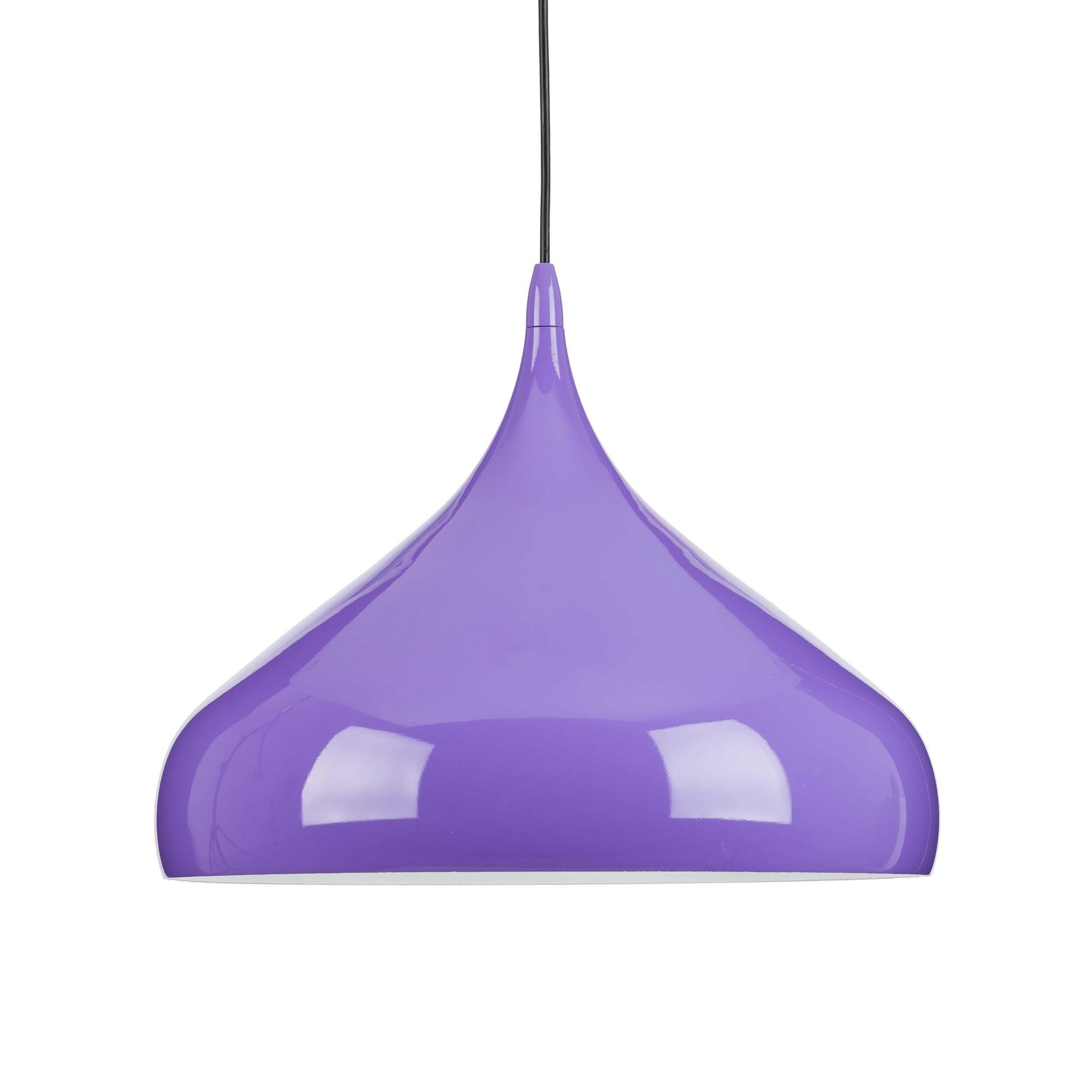 Подвесной светильник Spinning  BH2Подвесные<br>На создание подобной формы люстры, способной наполнить положительными эмоциями, дизайнера вдохновила любимая игрушка детства — волчок. В модели Spinning сочетание формы и назначения преподносится в новой марене. Глянец, соблазнительность и надёжность, которые объединяются воедино в светильнике Spinning претендуют на право называться новой классикой. Дизайнер Бенджамин Хьюберт всегда тщательно ищет неожиданные решения и необычные материалы для своих работ, не торопясь и уделяя особое внима...<br><br>stock: 5<br>Высота: 150<br>Диаметр: 41<br>Количество ламп: 1<br>Материал абажура: Алюминий<br>Мощность лампы: 60<br>Ламп в комплекте: Нет<br>Напряжение: 220<br>Тип лампы/цоколь: E27<br>Цвет абажура: Фиолетовый