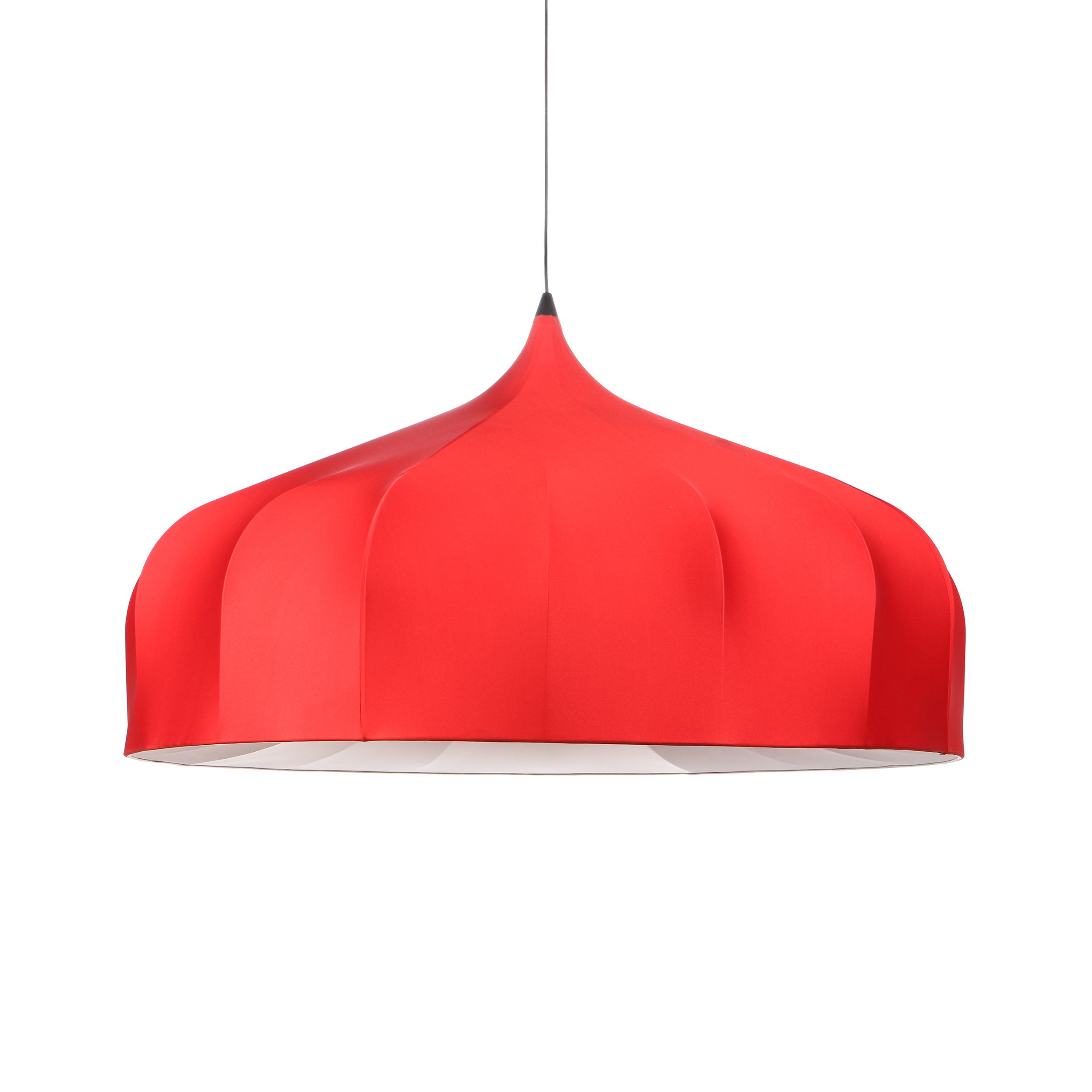 Подвесной светильник Dome Modern диаметр 116Подвесные<br>Подвесной светильник Dome Modern диаметр 116 получил свое название из-за формы абажура (dome в переводе с английского — «купол»).<br><br><br> Внутренний каркас — стальная проволока, абажур выполнен из эластичного полиэстера черного/красного/белого цвета (внутренняя поверхность — термостойкая ткань). Рекомендуется очищать абажур от пыли при помощи щетки-ролика с липкой поверхностью.<br><br><br> Подвесной светильник Dome Modern диаметр 116 — оригинальная модель для стильного интерьера.<br><br>stock: 7<br>Высота: 150<br>Диаметр: 116<br>Количество ламп: 1<br>Материал абажура: Ткань<br>Материал арматуры: Металл<br>Ламп в комплекте: Нет<br>Напряжение: 220<br>Тип лампы/цоколь: E27<br>Цвет абажура: Красный