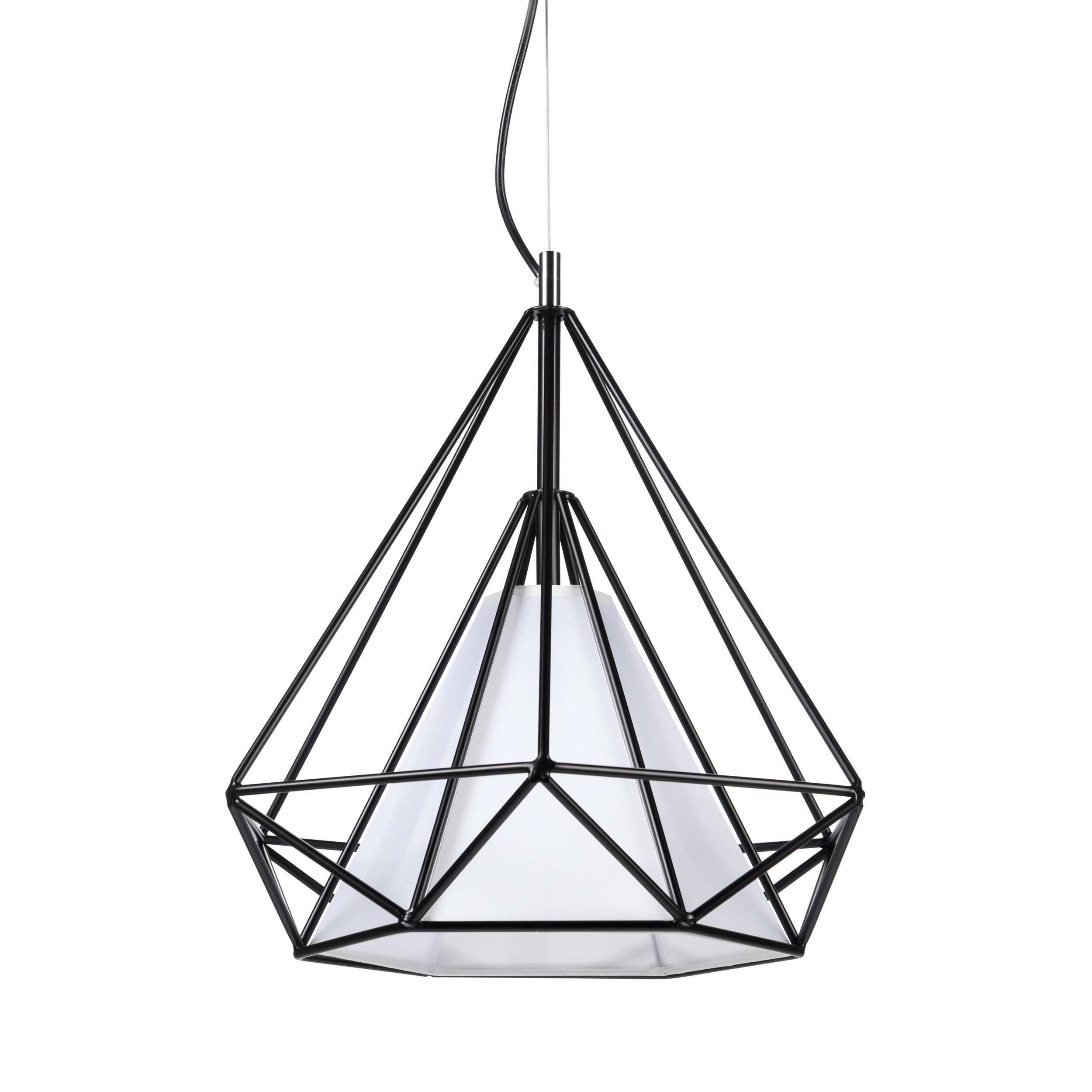 Подвесной светильник HimmeliПодвесные<br>Подвесной светильник Himmeli<br> являет собой пример искусства создания геометрических форм. Название Himmeli происходит от шведского слова himmel, что означает «небо».<br><br><br><br>Подвесной светильник Himmeli — это современный свет в алмазной форме, созданной тонкими металлическими трубками, легко вписывающийся в интерьер любого дома.<br><br>stock: 0<br>Высота: 180<br>Ширина: 33<br>Длина: 38<br>Количество ламп: 1<br>Материал абажура: Пергамент<br>Материал арматуры: Сталь<br>Мощность лампы: 13<br>Ламп в комплекте: Нет<br>Напряжение: 220<br>Тип лампы/цоколь: E27<br>Цвет абажура: Белый<br>Цвет арматуры: Черный