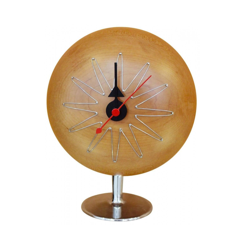 Часы Pill настольныеЧасы<br>Дизайнерские алюминиевые настольные круглые часы Pill (Пилл) от Cosmo (Космо).<br><br><br> В области часового дела Джордж Нельсон был в какой-то степени новатором. Он обладал особым талантом и взглядом на мир, выходящим за рамки его эпохи. В его руках часы стали не просто механизмом, который отсчитывает время. Он разрабатывал неповторимый авторский дизайн для каждого предмета, при этом сохраняя его потребительские свойства. Часы, которые он создал, всегда будут актуальны и уместны в любом интерь...<br><br>stock: 0<br>Высота: 20<br>Ширина: 15<br>Материал: Алюминий<br>Цвет: Дерево/Wood<br>Диаметр: 6,5