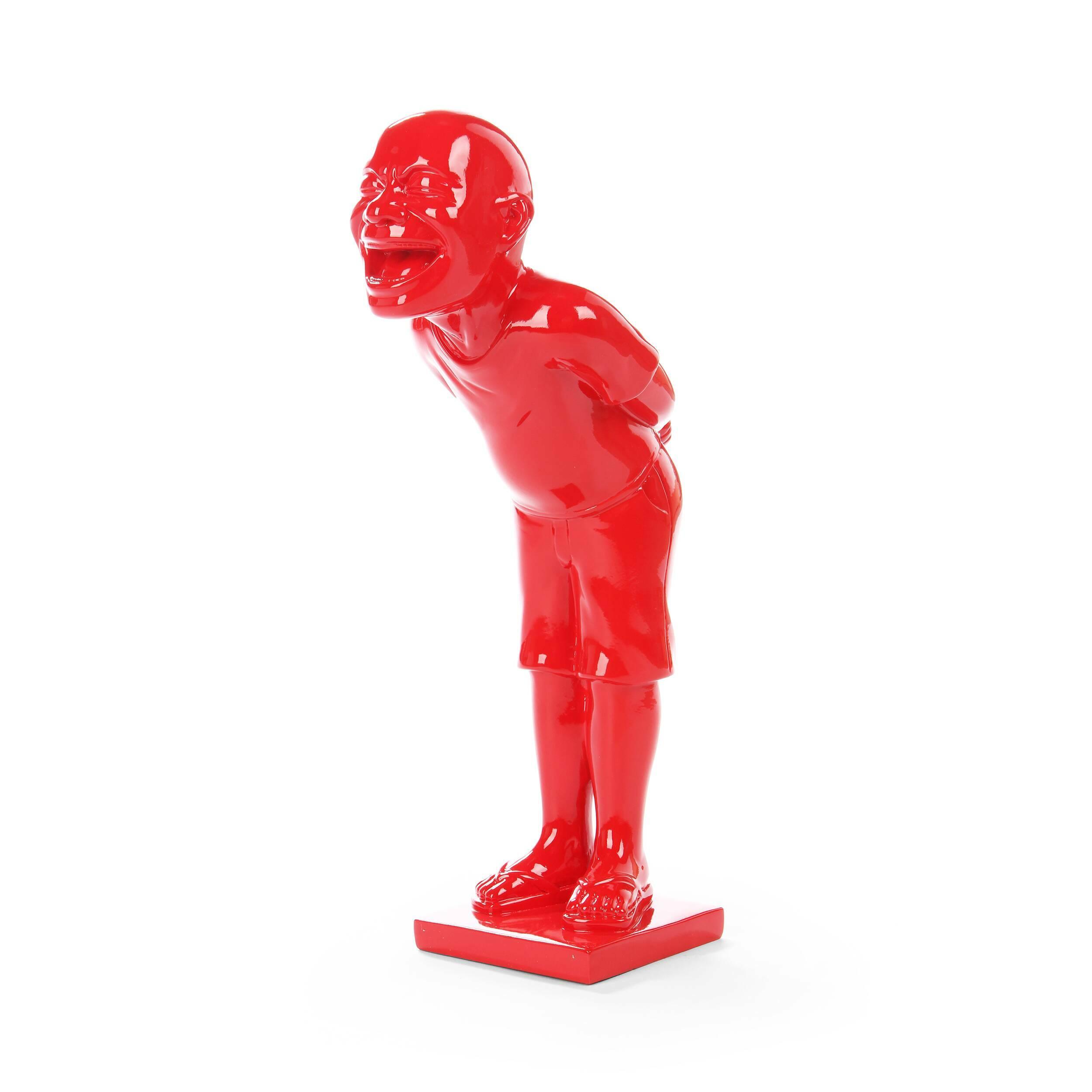 Статуэтка LaughНастольные<br>Дизайнерская авторская красная статуэтка Laugh (Лаф) из полистоуна от Cosmo (Космо).<br> Как и чем удивить и порадовать своих гостей? Конечно же, яркой и остроумной деталью вашего интерьера — оригинальной статуэткой Laugh.<br><br><br> Она принадлежит серии авторских статуэток, отражающих жесты невербального общения, эмоциональные состояния или различные черты характера. Такой яркий и оригинальный элемент декора станет хорошим подарком для тех, кто ценит современное искусство, любит красивые необычн...<br><br>stock: 2<br>Высота: 32<br>Ширина: 16<br>Материал: Полистоун<br>Цвет: Красный<br>Диаметр: 10