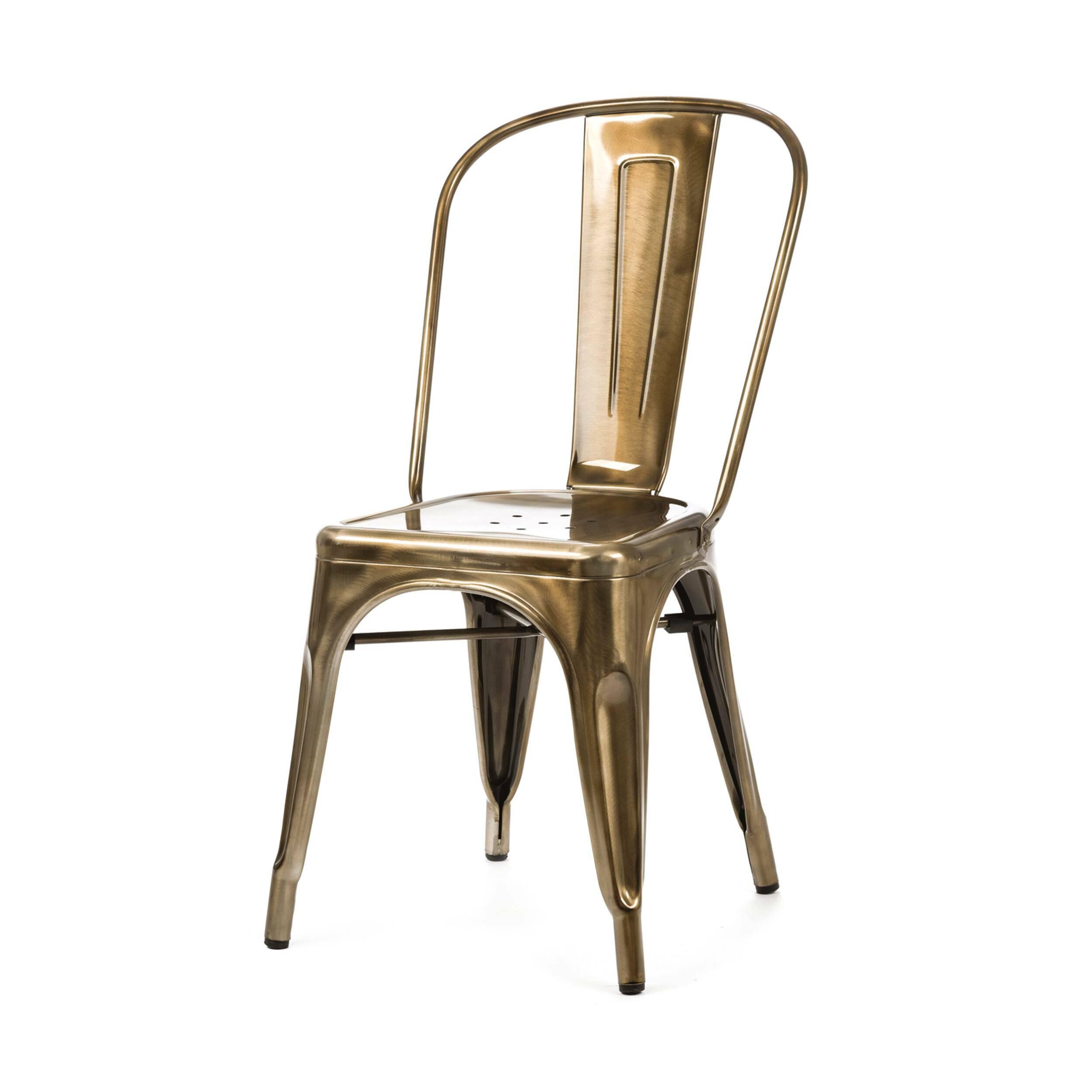 Стул MaraisИнтерьерные<br>Дизайнерский стальной жесткий стул Marais (Мэрейс) необычной формы без подлокотников от Cosmo (Космо).<br><br>     Сталь и больше ничего. Блестящее применение этого простого материала демонстрирует стул Marais. Тонкая стальная трубка с широкой вертикальной панелью образует спинку, сиденье с едва заметным углублением и несколькими декоративными отверстиями аккуратно приварено к цельному каркасу ножек, пространство между которыми оформлено в виде арок, гармонируя со спинкой и придавая предмету легк...<br><br>stock: 0<br>Высота: 85<br>Высота сиденья: 45<br>Ширина: 46<br>Глубина: 51<br>Тип материала каркаса: Сталь<br>Цвет каркаса: Бронза пушечная