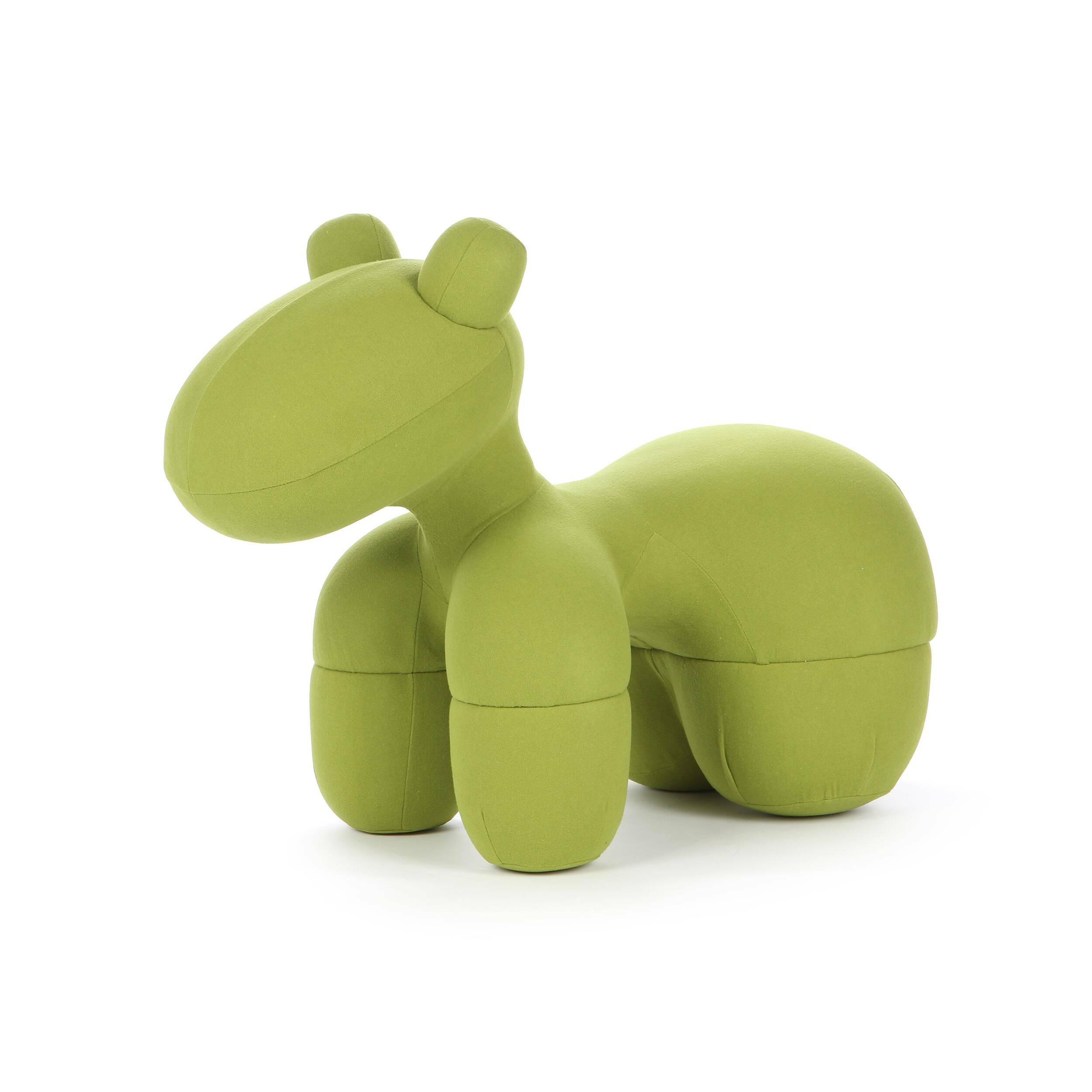 Кресло PonyМебель для детей<br><br><br>stock: 3<br>Высота: 76<br>Ширина: 57<br>Глубина: 110<br>Материал каркаса: Кашемир<br>Тип материала каркаса: Ткань<br>Цвет каркаса: Зеленый