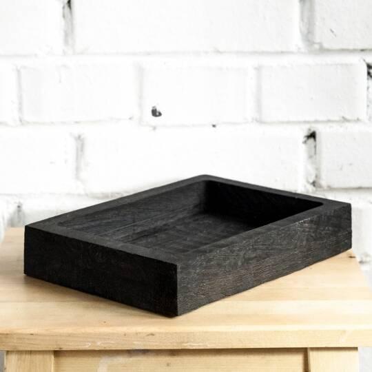 Ящик с низкими бортами Снег темный
