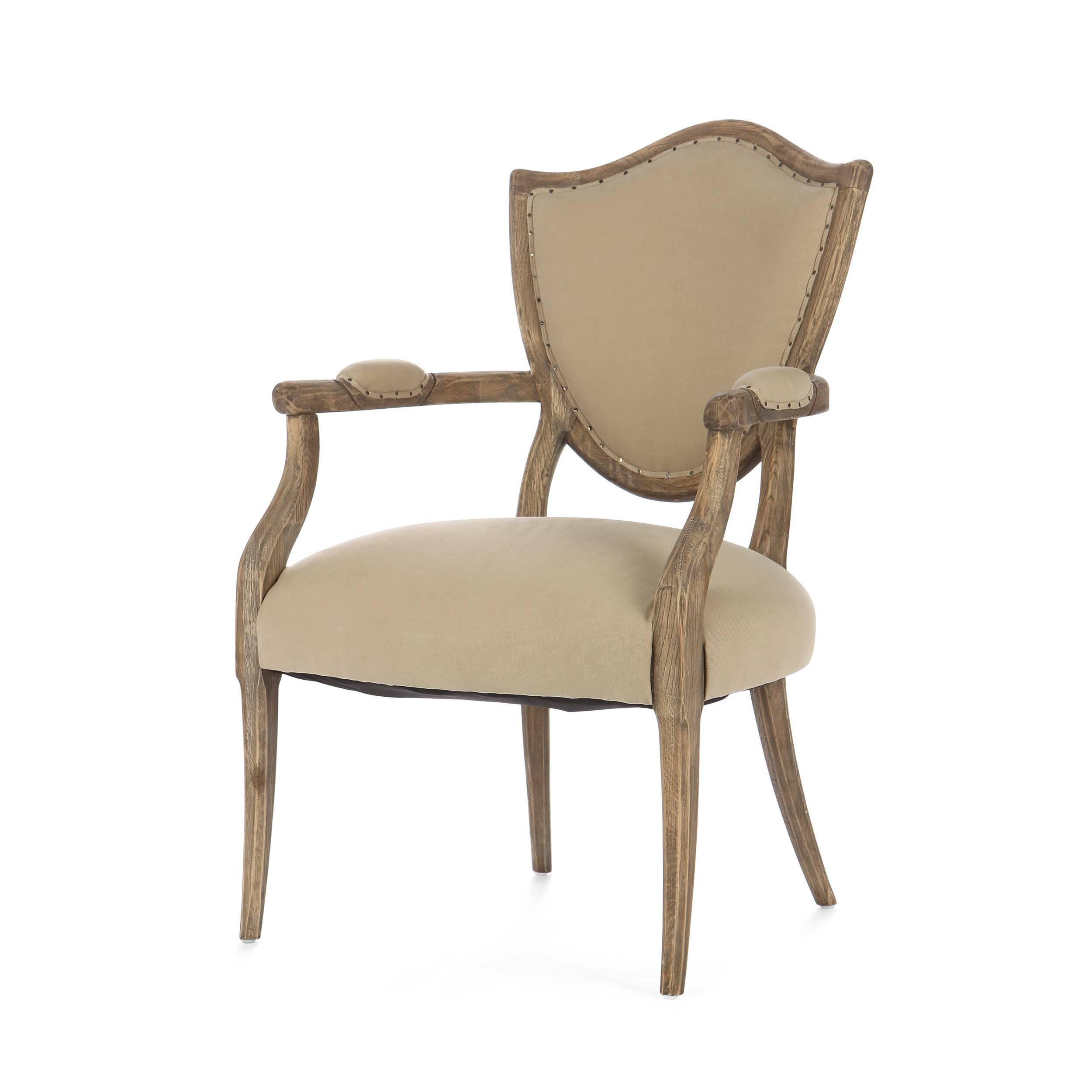 Стул LennyИнтерьерные<br>Дизайнерский классический винтажный стул Lenny (Ленни) из массива дуба с мягким тканевым сиденьем и подлокотниками от Cosmo (Космо).<br><br> Стул Lenny — это сочетание изысканных черт классицизма и нарочитой грубости форм современного индустриального стиля. Великолепное мягкое сиденье и не менее роскошная спинка, выполненные в спокойном, приятном цвете, заключены в каркас из искусственно состаренного дуба, который смотрится просто и в то же время обладает притягательным шармом. Обивка стула предс...<br><br>stock: 9<br>Высота: 97<br>Высота сиденья: 48<br>Ширина: 66<br>Глубина: 66<br>Цвет ножек: Дуб<br>Материал ножек: Массив дуба<br>Материал сидения: Хлопок<br>Цвет сидения: Темно-бежевый<br>Тип материала сидения: Ткань<br>Тип материала ножек: Дерево