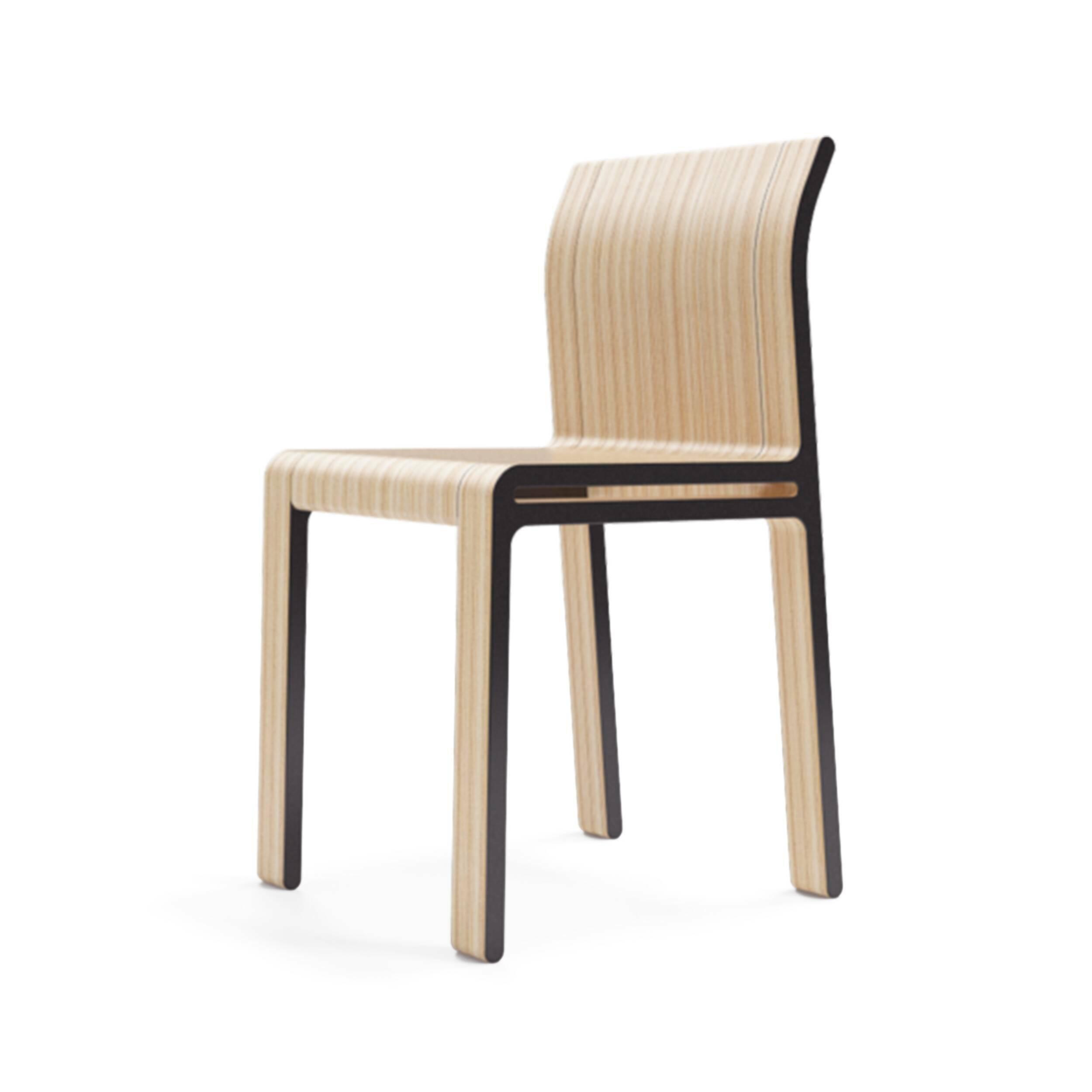 Стул MonsterasИнтерьерные<br>Дизайнерский деревянный легкий стул Monsteras (Монстерас) без подлокотников в полоску от Unika Moblar от Unika Moblar (Уника Моблар).<br>Помимо классических образцов скандинавского дизайна, простота и оригинальность стула Monsteras напоминает работы британского дизайнера Джаспера Моррисона 80-х годов прошлого века. Моррисон использует простые материалы, создавая плавный, непринужденный изгиб линий, который не только приятен глазу, но и обусловлен функциональностью предмета. <br> <br> Стул Monsteras...<br><br>stock: 1<br>Высота: 82<br>Ширина: 40<br>Глубина: 46<br>Материал каркаса: Фанера, шпон дуба<br>Тип материала каркаса: Дерево<br>Цвет каркаса: Графит