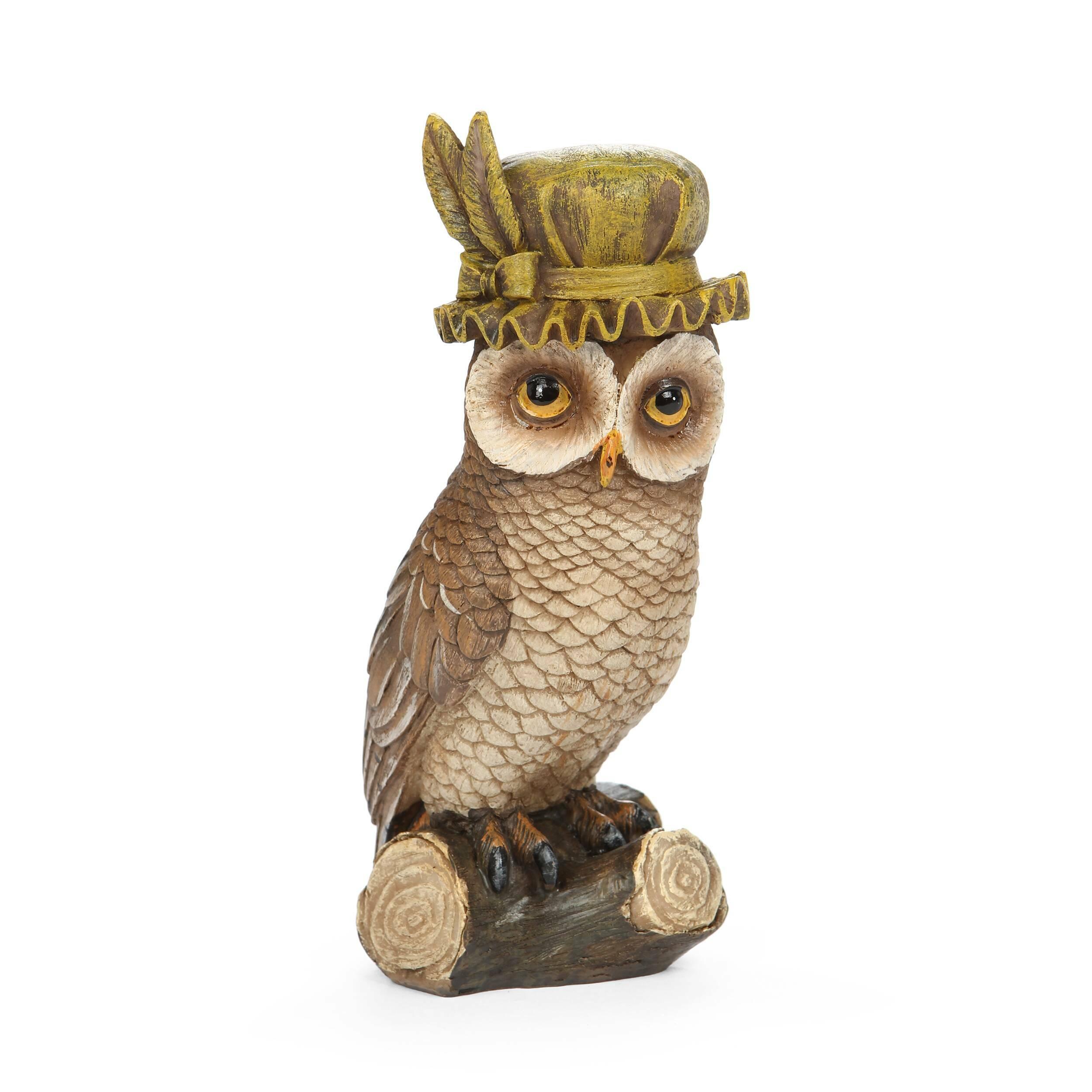 Статуэтка BonnetНастольные<br>Дизайнерская коричневая статуэтка Bonnet (Банит) из смолы в форме совы сидящей на бревне от Cosmo (Космо).<br><br><br><br> Любителям веселого или забавного стиля в интерьере всегда в радость интересные сочетания, необычные фигурки и забавные панно. Главное, чтобы декоративные элементы заставляли любого наблюдателя улыбнуться и всегда поднимали настроение. Не стоит бояться экспериментов — именно в них рождаются замечательные дизайны и самая жизнерадостная домашняя обстановка. Особенно хорошо такой ...<br><br>stock: 4<br>Высота: 16.1<br>Ширина: 5.9<br>Материал: Смола<br>Цвет: Коричневый<br>Длина: 8.5<br>Цвет дополнительный: Красный, зеленый