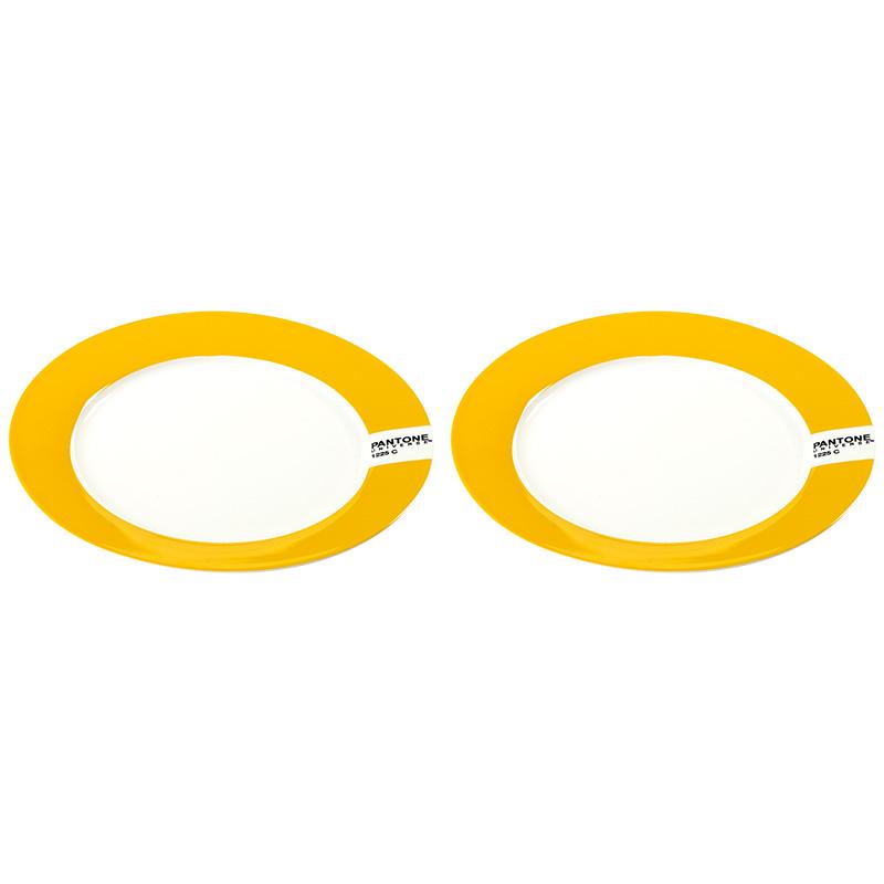 Тарелка PANTONE, сет 2 шт. (B7614010_SET)Посуда<br>Артикул: B7614010_SET. Какие требования предъявляют к современным тарелкам? Соответствие назначению, качество используемого материала и красивый дизайн. Всем этим критериям в полной мере отвечают тарелки PANTONE для закусок и десерта. Лаконичная круглая форма, интенсивный желтый цвет и применение фарфора - 3 составляющих успеха этой посуды. Удивите гостей – сервируйте праздничный стол тарелками PANTONE. Дизайн: Serax, Бельгия.<br><br>stock: 1<br>Высота: 2<br>Материал: Фарфор<br>Цвет: Желтый<br>Размер: None<br>Диаметр: 20<br>Страна происхождения: Бельгия