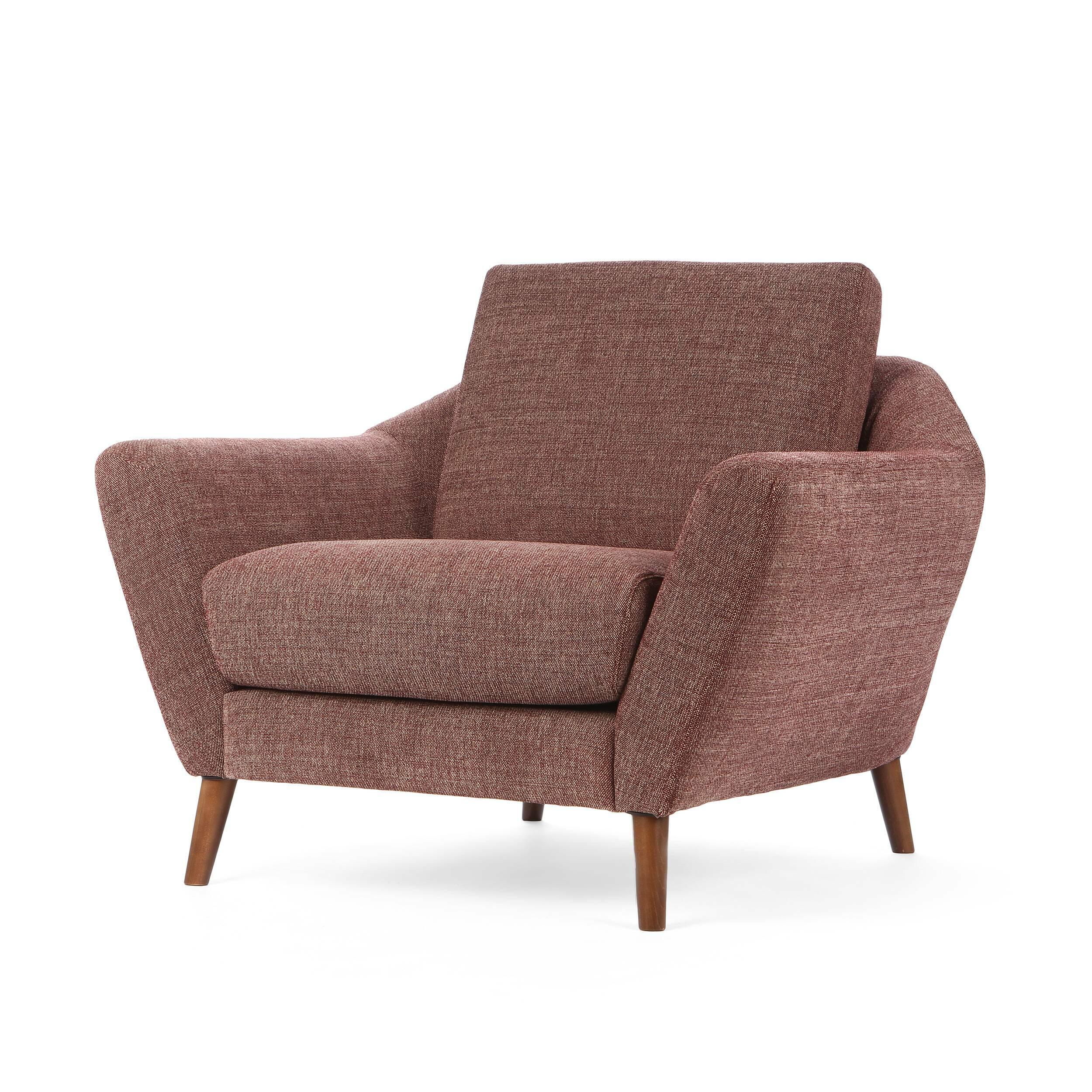 Кресло AgdaИнтерьерные<br>Дизайнерское комфортное классическое кресло Agda (Эгда) от Sits (Ситс).<br><br>Оригинальное кресло Agda имеет невероятно удобную, анатомическую форму подлокотников и подушек, что позволит вам прекрасно отдохнуть в нем даже в рабочее время. Благодаря своим размерам кресло отлично подойдет не только для просторных комнат, но и для небольших помещений, где создаст комфортную и теплую атмосферу.<br> <br> Дизайн кресла разработан для бренда Say Who двумя талантливыми дизайнерами Каспером Мельдгаром и Ни...<br><br>stock: 0<br>Высота: 84<br>Высота сиденья: 48<br>Ширина: 104<br>Глубина: 94<br>Цвет ножек: Орех<br>Материал обивки: Полиэстер<br>Степень комфортности: Стандарт комфорт<br>Форма подлокотников: Стандарт<br>Коллекция ткани: Категория ткани III<br>Тип материала обивки: Ткань<br>Тип материала ножек: Дерево<br>Цвет обивки: Бордовый