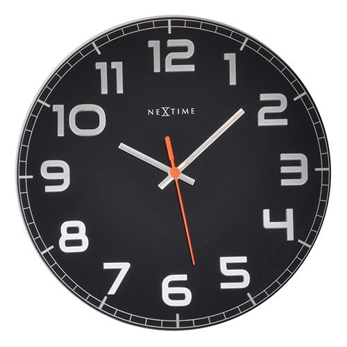 Купить Настенные часы CLASSY (8817ZW), NeXtime, Черный, металл, стекло