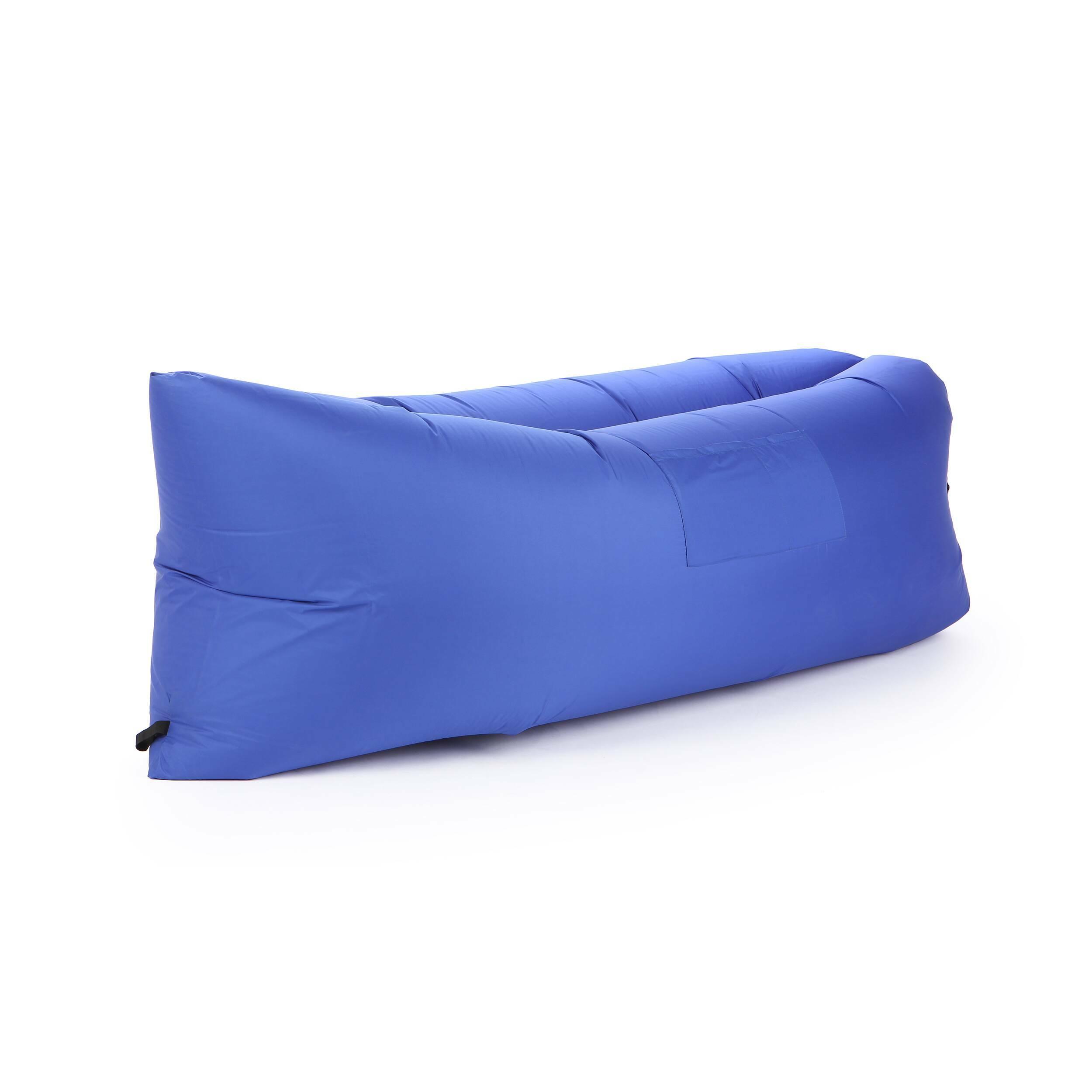 Надувной диван LamzacУличная мебель<br>Надувной диван Lamzac — удобный лежак на раз-два-три. Дома, на даче, в любой туристической поездке и даже в простом походе в ближайший парк надувной диван — незаменимый портативный лежак за три секунды.<br><br> Достать, взмахнуть, закрутить — и все! Располагайтесь на лежаке в одиночестве или как на диване вдвоем. Надувной диван Lamzac выдерживает вес до 200 кг.<br><br>stock: 3<br>Высота: 60-70<br>Глубина: 140<br>Длина: 200<br>Материал обивки: Полиэстер<br>Тип материала обивки: Ткань<br>Цвет обивки: Синий