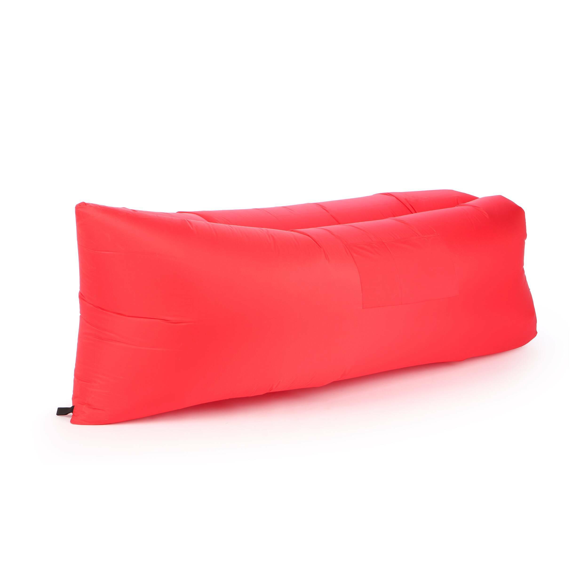Надувной диван LamzacУличная мебель<br>Надувной диван Lamzac — удобный лежак на раз-два-три. Дома, на даче, в любой туристической поездке и даже в простом походе в ближайший парк надувной диван — незаменимый портативный лежак за три секунды.<br><br> Достать, взмахнуть, закрутить — и все! Располагайтесь на лежаке в одиночестве или как на диване вдвоем. Надувной диван Lamzac выдерживает вес до 200 кг.<br><br>stock: 2<br>Высота: 60-70<br>Глубина: 140<br>Длина: 200<br>Материал обивки: Полиэстер<br>Тип материала обивки: Ткань<br>Цвет обивки: Красный
