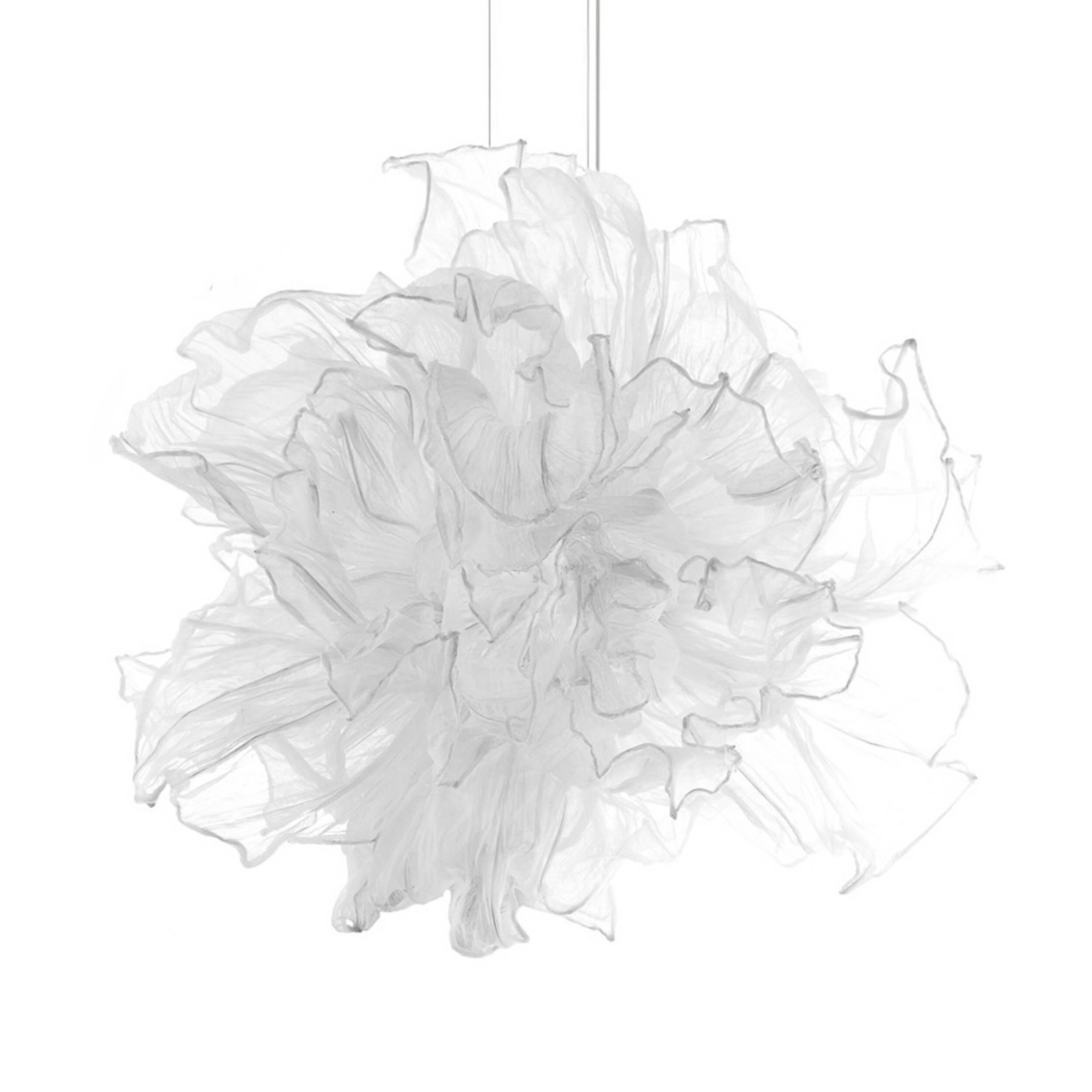 Подвесной светильник FandangoПодвесные<br>Подвесной светильник Fandango парит в воздухе подобно девушке, танцующей в платье с развевающейся пышной юбкой. Лепестки сделаны из хлопчатобумажного муслина, а по их краям вшита проволока. Несколько слоев лепестков, сделанных из ткани, могут быть с помощью проволоки расположены тем способом, который пожелает обладатель светильника.<br><br><br><br><br><br> Подвесной светильник Fandango разработал для фирмы Hive дизайнер Дэнни Фанг. Он закончил Академию Эйндховена в Голландии, а теперь работает в сво...<br><br>stock: 0<br>Высота: 65<br>Диаметр: 100<br>Количество ламп: 2<br>Материал абажура: Хлопок<br>Материал арматуры: Металл<br>Мощность лампы: 50W<br>Тип лампы/цоколь: G9