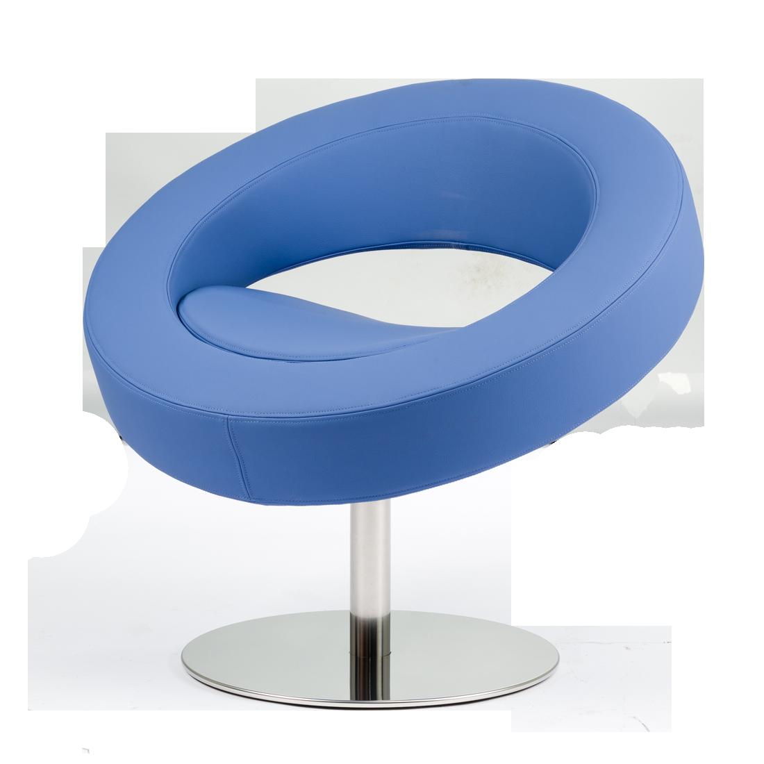 Кресло HelloИнтерьерные<br>Дизайнерское футуристичное круглое кресло Hello (Хеллоу) на узкой ножке цвета хром от Softline (Софтлайн).<br><br><br> Невероятное обаяние и характер. Кресло было заказано датской медиакорпорацией DR специально для Кайли Миноуг — харизматичной поп-дивы и удивительно жизнерадостного человека. Разработать облик необычного подарка взялся опытный дизайнер Флемминг Буск, создатель творческого дуэта и бренда Busk+Hertzog. Буск уже успешно сотрудничал с Softline, и в его послужном списке значился диван...<br><br>stock: 2<br>Высота: 70<br>Высота сиденья: 40<br>Диаметр: 75<br>Материал обивки: Шерсть, Полиамид<br>Тип материала каркаса: Сталь нержавеющя<br>Коллекция ткани: Felt<br>Тип материала обивки: Ткань<br>Цвет обивки: Голубой<br>Цвет каркаса: Хром