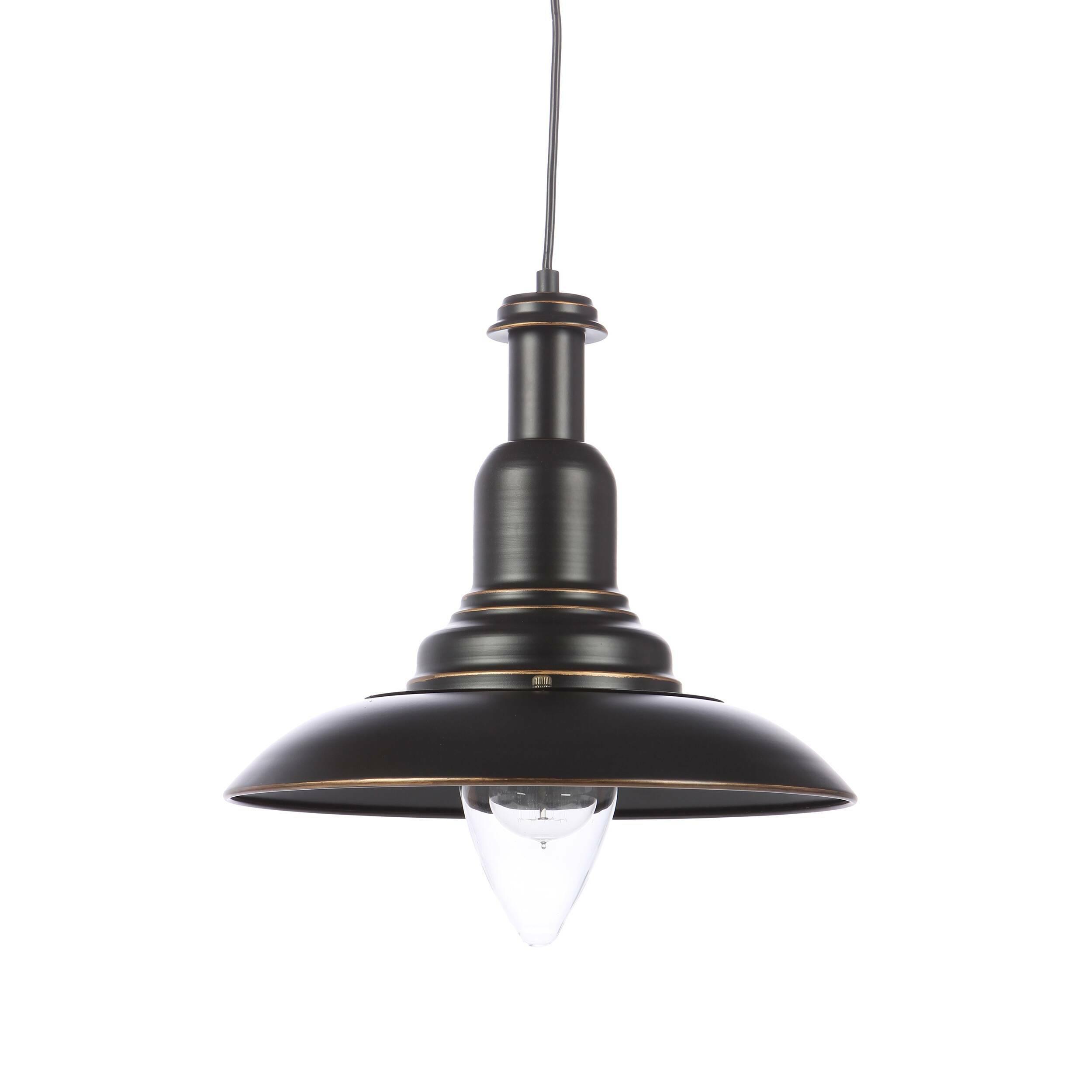 Подвесной светильник Country KitchenПодвесные<br>Подвесной светильник Country Kitchen цепляет своей лаконичной, но в то же время оригинальной и привлекательной формой. Черный матовый цвет светильника делает его соответствующим современным тенденциям в интерьерном дизайнерском искусстве и красиво подчеркивает его линии и плавные переходы. Светильник создан ведущими дизайнерами компании Cosmo.<br><br><br> Стильный абажур подвесного светильника Country Kitchen изготовлен из металла черного цвета. Имеется цоколь для одной лампочки.<br><br><br> Подобны...<br><br>stock: 0<br>Высота: 37<br>Диаметр: 35<br>Длина провода: 150<br>Количество ламп: 1<br>Материал абажура: Металл<br>Мощность лампы: 60<br>Ламп в комплекте: Нет<br>Тип лампы/цоколь: E27<br>Цвет абажура: Черный<br>Цвет провода: Черный