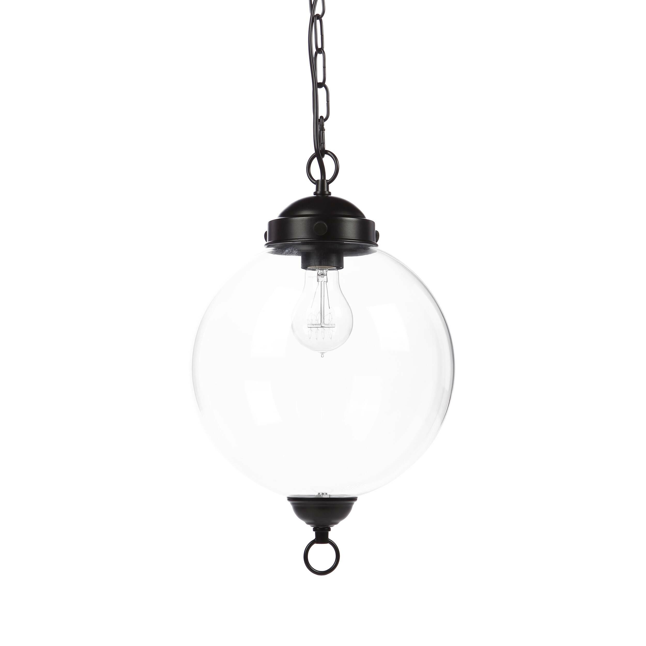 Подвесной светильник Schoolhouse PendantПодвесные<br>Подвесной светильник Schoolhouse Pendant цепляет своей прозрачностью и легкостью, необычайно стильным оформлением, которое весьма универсально и способно подойти практически к любому дизайну вашего помещения. Черный матовый цвет арматуры очень стильно и современно смотрится в сочетании с прозрачным стеклом плафона, что, безусловно, сделает любую комнату особенно привлекательной. Подвесной светильник Schoolhouse Pendant имеет цоколь для одной лампочки.<br><br><br> Данный светильник будет гармони...<br><br>stock: 0<br>Высота: 160<br>Диаметр: 25<br>Количество ламп: 1<br>Материал абажура: Стекло<br>Материал арматуры: Металл<br>Мощность лампы: 60<br>Ламп в комплекте: Нет<br>Тип лампы/цоколь: E27<br>Цвет абажура: Прозрачный<br>Цвет арматуры: Черный матовый<br>Цвет провода: Черный