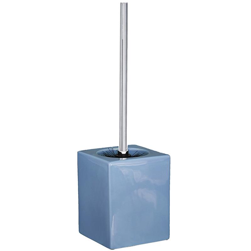 Купить Ершик для унитаза с напольной подставкой TOILET (4444), Cult Design, Синий, керамика, металл