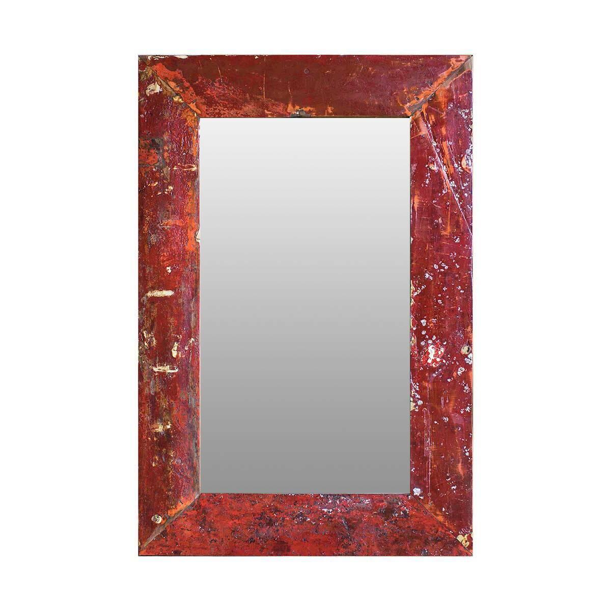 Зеркало Свет мой зеркальце высота 120Настенные<br>Зеркало Свет мой зеркальце высота 120 выполнено из массива древесины старого рыбацкого судна, такой как тик, махагон, суар, с сохранением оригинальной многослойной окраски. Древесина обладает высокой износостойкостью, долговечностью и водоотталкивающими свойствами. Ее использовали индонезийские рыбаки для создания лодок, а мебель из нее подходит для использования как внутри помещения, так и снаружи. Покрыто натуральным шеллаком.<br><br><br> Зеркало Свет мой зеркальце высота 120 сделано из частей...<br><br>stock: 0<br>Высота: 120<br>Ширина: 80<br>Глубина: 4<br>Материал: Тик<br>Цвет: Бордовый