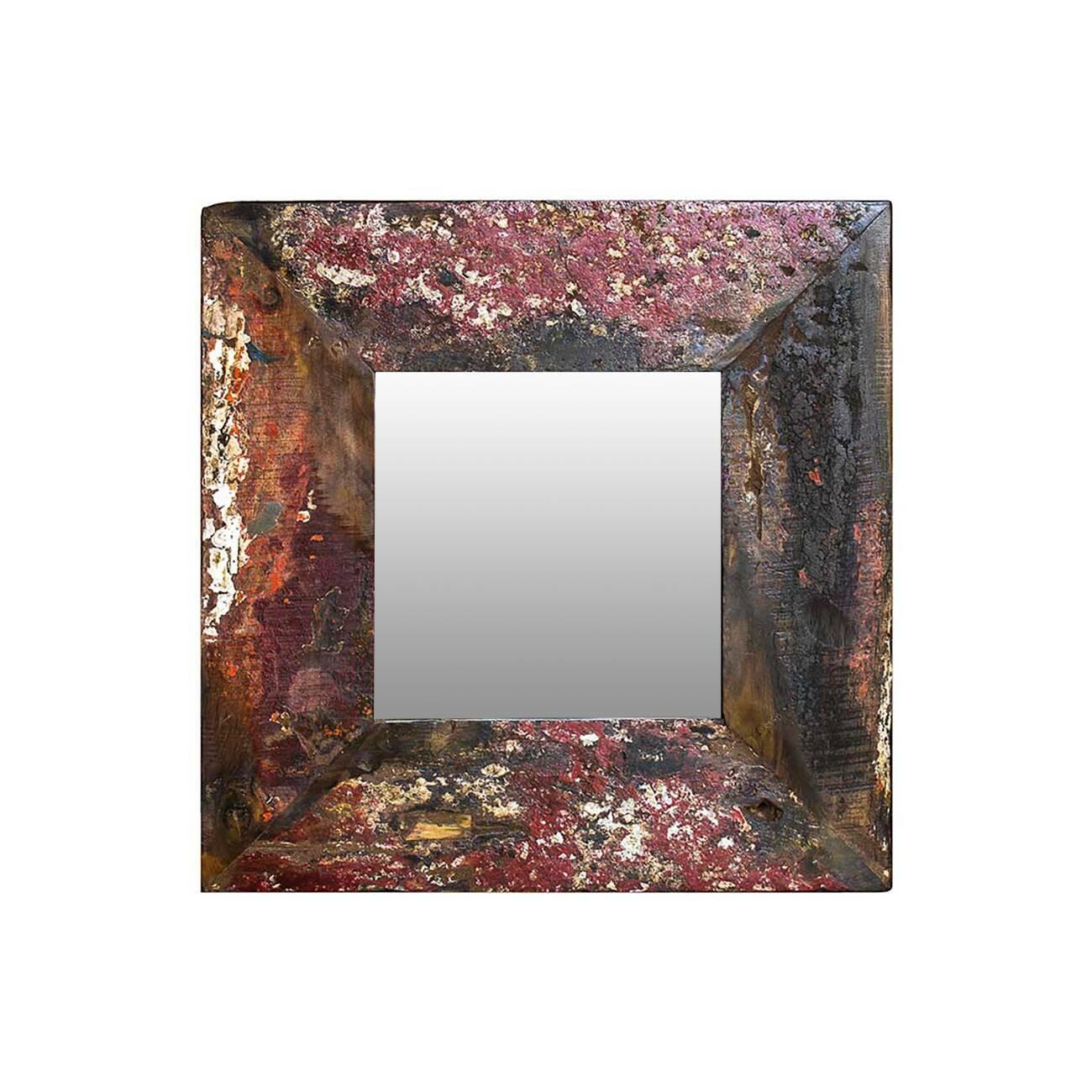 Зеркало Свет мой зеркальце 60Настенные<br>Зеркало Свет мой зеркальце высота 60 выполнено из массива древесины старого рыбацкого судна, такой как тик, махагон, суар, с сохранением оригинальной многослойной окраски. Древесина обладает высокой износостойкостью, долговечностью и водоотталкивающими свойствами. Ее использовали индонезийские рыбаки для создания лодок, а мебель из нее подходит для использования как внутри помещения, так и снаружи. Покрыто натуральным шеллаком.<br><br><br> Зеркало Свет мой зеркальце высота 60 сделано из частей т...<br><br>stock: 0<br>Высота: 60<br>Ширина: 60<br>Глубина: 4<br>Материал: Тик<br>Цвет: Разноцветный