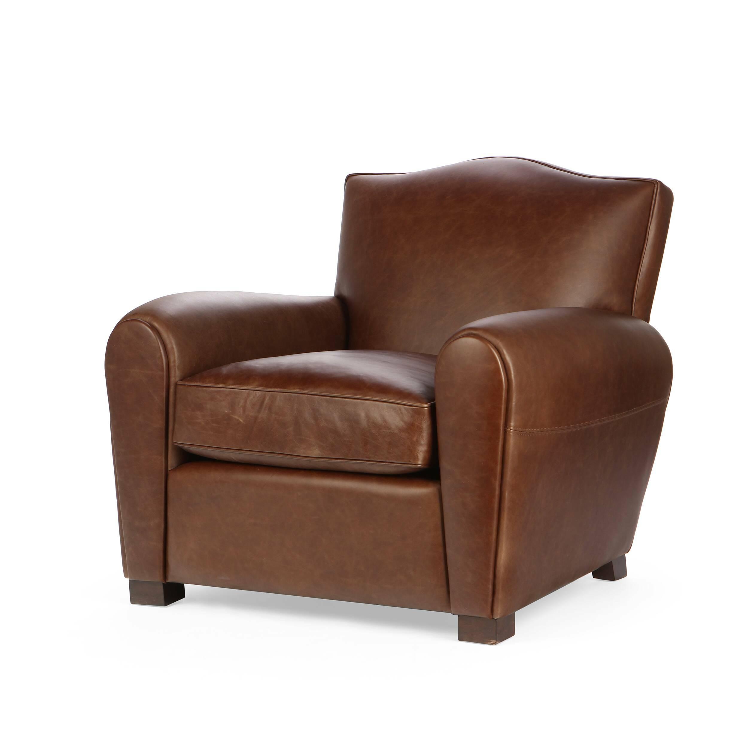 Кресло HarrisonИнтерьерные<br>Дизайнерское коричневое современное кожаное кресло Harrison (Хэррисон) от  Cosmo (Космо).<br><br><br> Дизайнеры компании Cosmo не устают радовать нас интересными новинками. Представленное здесь кресло Harrison являет собой традиционную строгую классику, без лишних деталей и чрезмерного оформления. Кресло имеет «пузатую» форму, что придает ему особый уют и комфортность. Благодаря широкой спинке и удобному сиденью вы сможете отдохнуть в нем с максимальным удобством. Кресло выполнено в коричневом ц...<br><br>stock: 3<br>Высота: 87<br>Ширина: 92<br>Глубина: 97<br>Цвет ножек: Коричневый<br>Материал ножек: Массив березы<br>Тип материала обивки: Кожа<br>Тип материала ножек: Дерево<br>Цвет обивки: Тёмно-коричневый