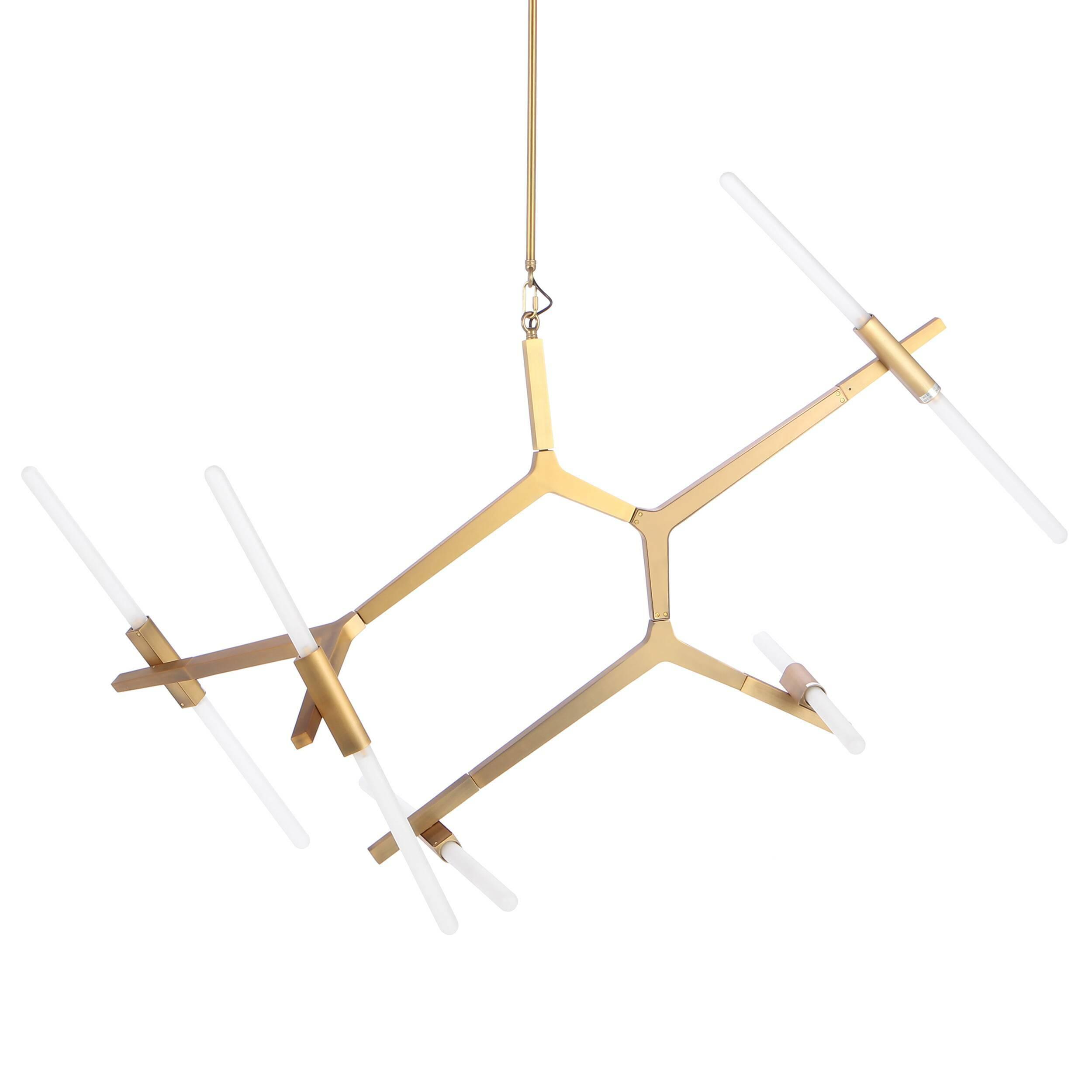 Подвесной светильник Agnes Summer 10 лампПодвесные<br>Подвесной светильник Agnes Summer 10 ламп<br>— это один из представителей замечательной коллекции светильников, созданных известным западным дизайнером Линдси Адельман. Данная коллекция отличается особой модульной структурой, благодаря которой в коллекции можно найти как небольшие светильники из нескольких ламп, так и действительно сложные конфигурации из множества ламп.<br><br><br> Светильник обладает очень стильным современным дизайном. Его плафоны изготовлены из непрозрачного стекла белого цв...<br><br>stock: 1<br>Высота: 140<br>Диаметр: 110<br>Количество ламп: 10<br>Материал абажура: Стекло<br>Материал арматуры: Сталь<br>Мощность лампы: 3.5<br>Ламп в комплекте: Да<br>Напряжение: 220<br>Тип лампы/цоколь: G9 LED<br>Цвет абажура: Белый<br>Цвет арматуры: Бронза золотая матовая