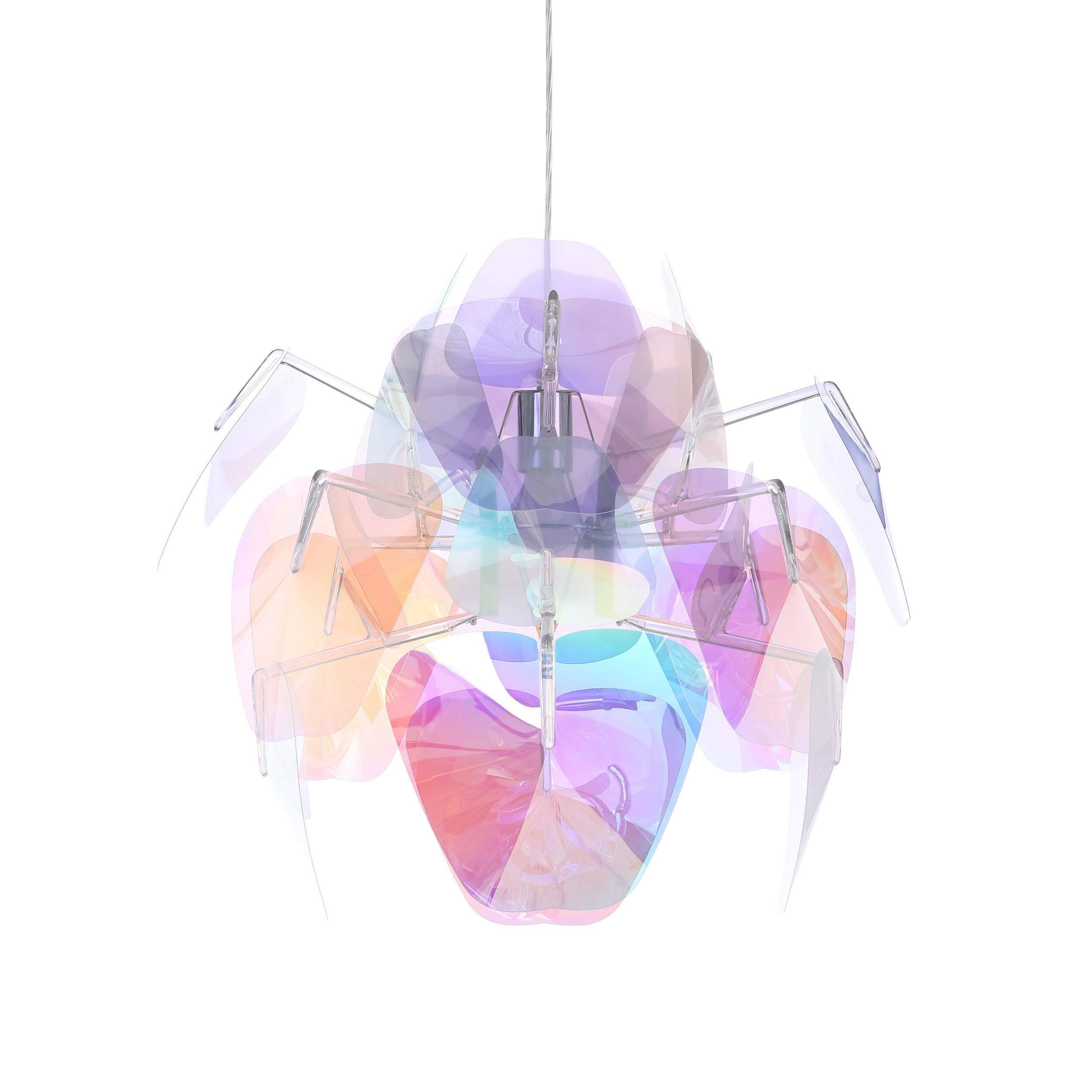 Подвесной светильник Hope диаметр 50Подвесные<br>Невероятно легкий и простой в сборке подвесной светильник Hope диаметр 50 создает волшебную атмосферу, где бы его не повесили. Его дизайн, разработанный аргентинским дизайнером Франциско Гомесом Пасом, ныне живущим в Милане, отражает новый взгляд на традиционные подвесные светильники, а в его изготовлении использованы инновационные технологии и новейшие материалы. <br> <br> Массивный с виду светильник очень легок — тончайшие вставки изготовлены из френелевских линз. Многогранная цветовая пал...<br><br>stock: 6<br>Высота: 200<br>Диаметр: 50<br>Количество ламп: 1<br>Материал абажура: Поликарбонат<br>Материал арматуры: Сталь<br>Мощность лампы: 100<br>Ламп в комплекте: Нет<br>Напряжение: 220<br>Тип лампы/цоколь: E27<br>Цвет абажура: Прозрачный
