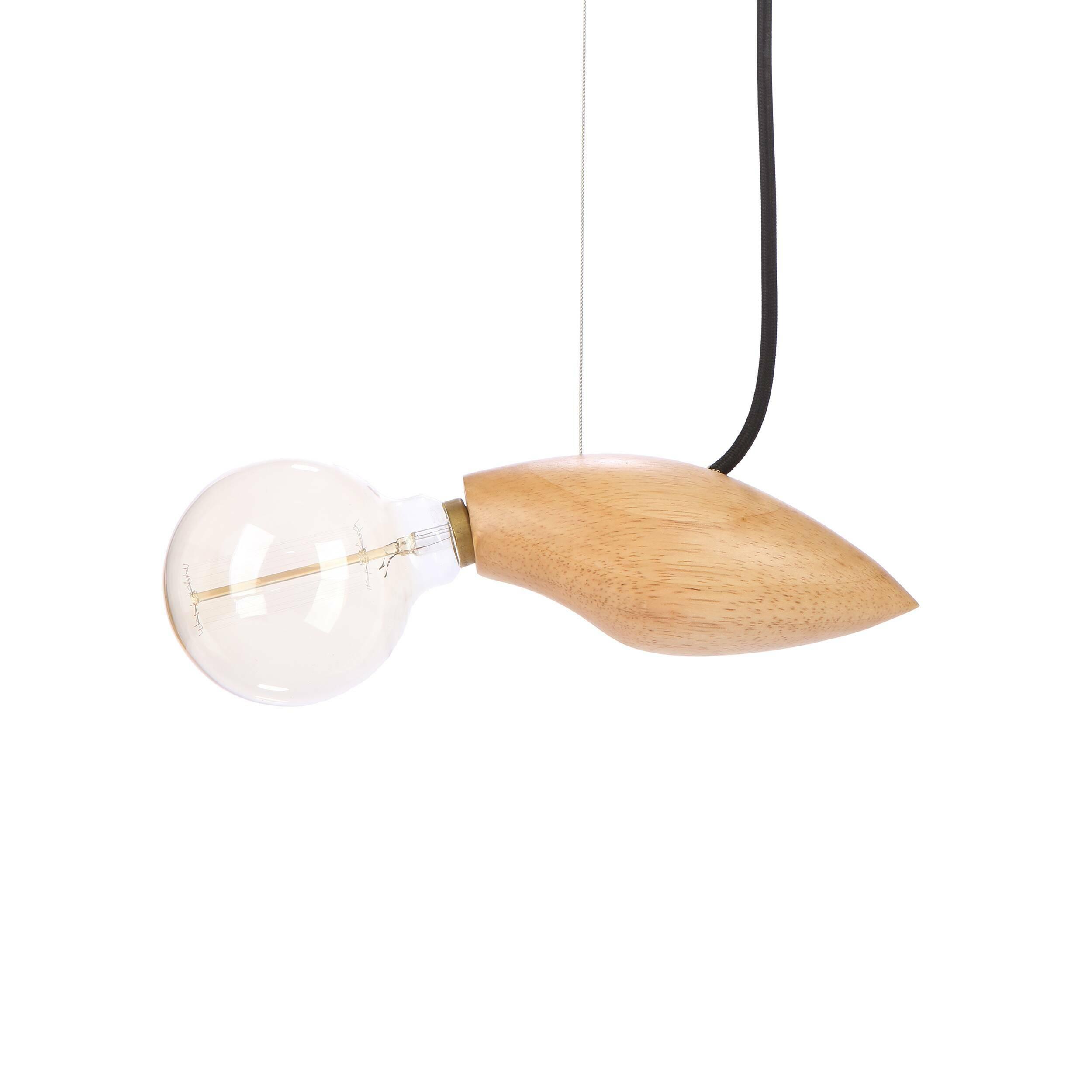 Подвесной светильник Squid длина 24Подвесные<br>Известный шведский дизайнер, выходец из Курдистана Джангир Маддади создал весьма оригинальный и интересный светильник, который непременно порадует ценителей и любителей нестандартных предметов домашнего освещения и декора. Подвесной светильник Squid длина 24 имеет очень небольшие размеры, а сочетание материалов позволяет вам использовать его в самых разных интерьерах, от стильного современного до более традиционных.<br><br><br> Светильник изготовлен из натуральной высококачественной древесины ...<br><br>stock: 0<br>Высота: 200<br>Ширина: 9,5<br>Длина: 24<br>Количество ламп: 1<br>Материал абажура: Дерево<br>Мощность лампы: 40<br>Ламп в комплекте: Нет<br>Напряжение: 220<br>Тип лампы/цоколь: E14<br>Цвет абажура: Бежевый<br>Цвет провода: Черный