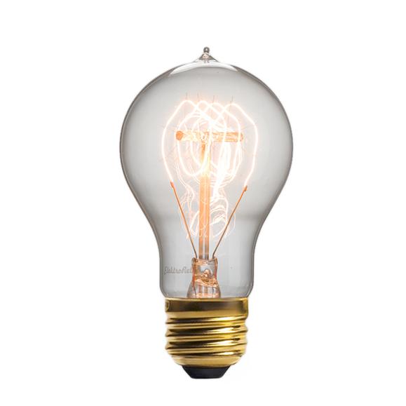 Винтажная лампа Эдисон Quad Loop (А19) 24 нитиРетролампочки<br>Стильная винтажная лампа Эдисон Quad Loop (А19) 24 нити — это изысканная, но при этом довольно простая лампа, выполненная в старом стиле. Создает гармонию в любом интерьере, привнося в него простоту и минимализм в сочетании с уникальностью и ультрамодным дизайном. <br><br><br>Купить винтажную лампу Эдисон Quad Loop (А19) 24 нити означает стать одним из ценителей индустриального дизайна. Интерьер в стиле стимпанк — это лучшее место, которое может освещать данная ретро модель, однако такую совре...<br><br>stock: 1136<br>Длина: 11,5<br>Материал абажура: Стекло<br>Мощность лампы: 40W<br>Ламп в комплекте: Нет<br>Напряжение: 220<br>Тип лампы/цоколь: E27<br>Цвет абажура: Прозрачный