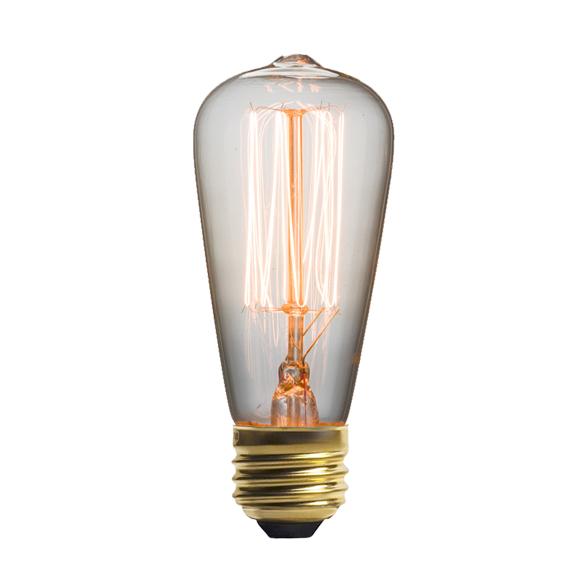 Винтажная лампа Эдисон  Steeple Squirrel Cage (ST48) 13 нитейРетролампочки<br>Ультрамодная винтажная лампа Эдисон Steeple Squirrel Cage (ST48)13 нитей приглашает всех не просто окунуться в прошлый век, но также разгадать притягательный стиль ретроискусства. Для всех любителей винтажного и универсального данная лампа будет идеальным решением. <br><br><br>Купить винтажную лампу Эдисон Steeple Squirrel Cage (ST48)13 нитей — значит придать интерьеру стиль в сочетании с ультрамодными и новаторскими решениями. Именно эта модель станет излюбленной для почитателей индустриально...<br><br>stock: 1265<br>Длина: 11,5<br>Материал абажура: Стекло<br>Мощность лампы: 25W<br>Ламп в комплекте: Нет<br>Напряжение: 220<br>Тип лампы/цоколь: E27<br>Цвет абажура: Прозрачный