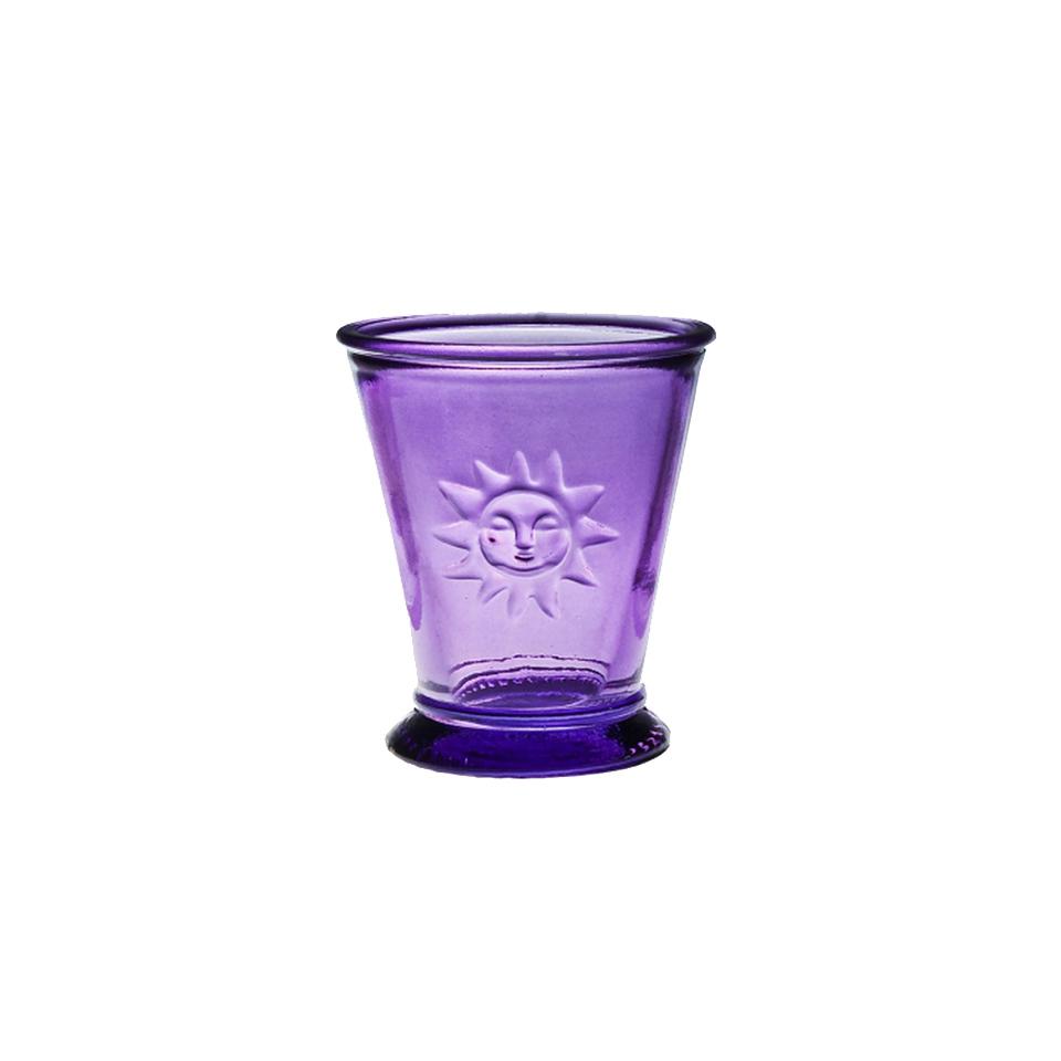 Стакан  (2098DB21)Посуда<br>San Miguel (Испания) – это мощнейшая компания, которая занимается производством очень качественной и оригинальной продукции из переработанного стекла. Vidrios San Miguel известный бренд во всем мире. В наши дни, Vidrios San Miguel имеет более чем 25 000 торговых точек.  Vidrios San Miguel занимается производством стеклянных изделий: посуда, бутылки, вазы, сувениры, украшения и многое другое. Основной экспорт происходит в страны: западной и восточной Европы, Америки, Азии и Африки.<br><br>stock: 190<br>Материал: Стекло<br>Цвет: lavender<br>Объем: 200<br>Объем: (51:94490025907a102b11e55de44d08e39e)