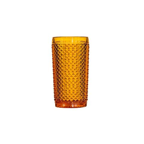 Стакан (ACN21/003259225006)Посуда<br>Фабрика VISTA ALEGRE с 1824 года изготавливает изделия из цветного стекла , смешивая песок и натуральные пигменты. Стеклянные изделия создают ручным способом путем заливания в пресс-формы жидкого стекла. Уникальные цвета и узоры на изделиях позволяют использовать их в любых интерьерных стилях, будь то Шебби шик, арт деко, богемный шик, винтаж или современный стиль.<br><br>stock: 158<br>Материал: Стекло<br>Цвет: Ambar 26A<br>Объем: 330<br>Объем: (51:94490025907a102b11e55de44d08e3b2)