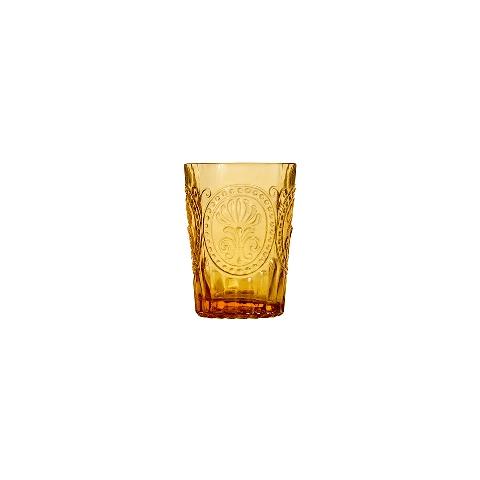 Стакан (ACN21/003079525006)Посуда<br>Фабрика VISTA ALEGRE с 1824 года изготавливает изделия из цветного стекла , смешивая песок и натуральные пигменты. Стеклянные изделия создают ручным способом путем заливания в пресс-формы жидкого стекла. Уникальные цвета и узоры на изделиях позволяют использовать их в любых интерьерных стилях, будь то Шебби шик, арт деко, богемный шик, винтаж или современный стиль.<br><br>stock: 188<br>Материал: Стекло<br>Цвет: Ambar 26A<br>Объем: 160<br>Объем: (51:94490025907a102b11e55de6e66f9628)