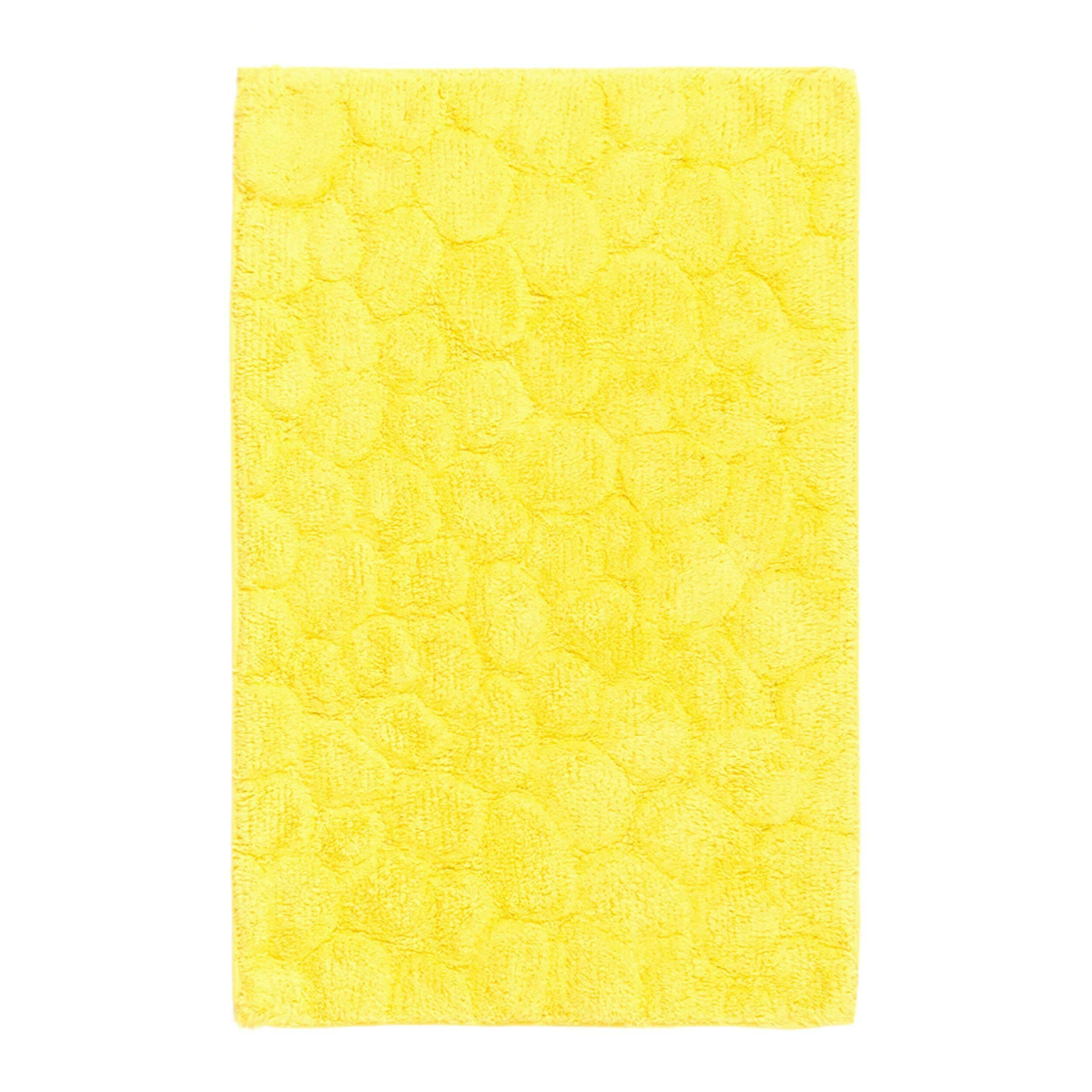 Ковер для ванной комнаты TiffnyДля ванной комнаты<br>Несомненно, как и любая другая комната в вашем доме, ванная тоже должна быть уютной, поскольку именно с нее начинается любой отличный день. Благодаря современному многообразию материалов ковры имеют различные формы, дизайн, цвет и тактильность. Однако значимое место по-прежнему занимают именно ковры из натуральных материалов. Хлопок — это отличный материал по свойствам впитываемости влаги и проводимости тепла. <br><br><br><br> Ковер для ванной комнаты Tiffny — это лаконичный коврик, который сделает в...<br><br>stock: 8<br>Ширина: 50<br>Материал: Хлопок<br>Цвет: Sunflower/Цветочный<br>Высота ворса: дл.=9-10мм,кор.=5-6мм<br>Длина: 80<br>Плотность ворса: 5000000стежков/м2<br>Состав основы: Противоскользящий каучук<br>Тип производства: Ручное производство