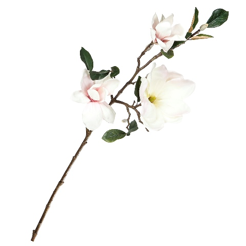 Магнолия (95635)Разное<br>SILK-KA - это известная Голландская компания, которая занимается производством искусственных цветов, фруктов и декоративных растений из шелка. Компания была создана благодаря безудержной страсти Patrick Oude Groeniger (директор и создатель SILK-KA) к цветам и фруктам. <br><br>Особое внимание создатель обратил на подлинное качество и безупречность искусственных цветов и фруктов. Всё создавалось с такой целью, чтобы трудно было отличить настоящее от искусственного. <br><br>Мастера компании активно работают...<br><br>stock: 3<br>Материал: Обработанная ткань, пластик<br>Цвет: Pink<br>Длина: 91