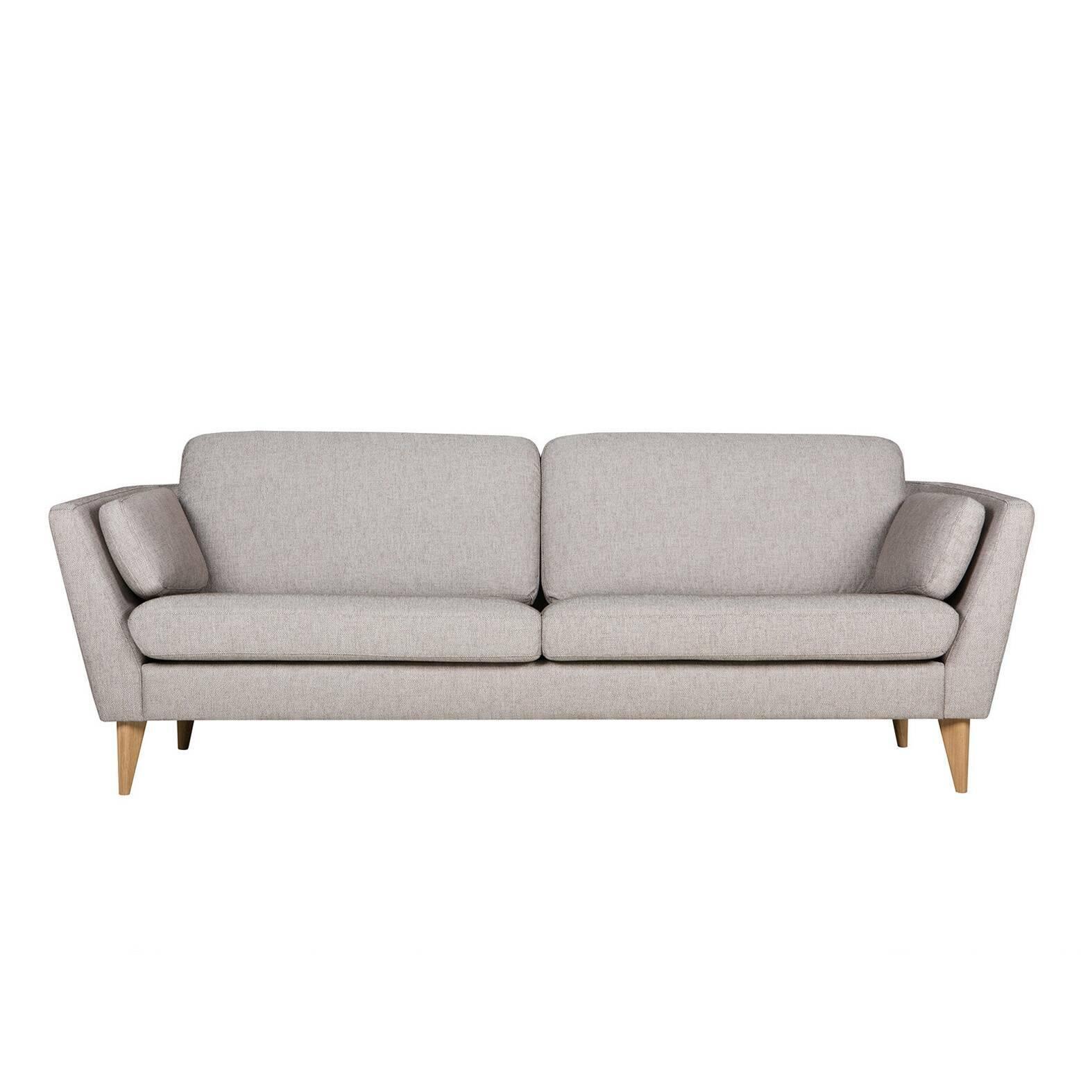Диван Mynta ширина 220Трехместные<br>Подбирая подходящую мягкую мебель в свою гостиную комнату или домашний кабинет, следует помнить о том, что такая мебель станет залогом уюта и хорошего, спокойного настроения, ведь именно мягкая мебель отвечает за наш отдых и хорошее самочувствие в перерыве между работой. Диван Mynta ширина 220 — это замечательное творение дизайнеров компании Sits, в котором присутствуют легкие шведские черты, а традиционные классические формы тесно переплетаются с современными дизайнерскими решениями.<br><br>...<br><br>stock: 0<br>Высота: 82<br>Высота сиденья: 46<br>Глубина: 87<br>Длина: 220<br>Цвет ножек: Дуб<br>Материал обивки: Полиэстер, Хлопок, Акрил<br>Степень комфортности: Стандарт комфорт<br>Форма подлокотников: Стандарт<br>Коллекция ткани: Категория ткани II<br>Тип материала обивки: Ткань<br>Тип материала ножек: Дерево<br>Цвет обивки: Серо-бежевый