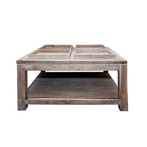 Стол Санто (CTSST-T IG)Кофейные столики<br>ROOMERS – это особенная коллекция, воплощение всего самого лучшего, модного и новаторского в мире дизайнерской мебели, предметов декора и стильных аксессуаров.<br><br>Интерьерные решения от ROOMERS в буквальном смысле не имеют границ. Мебель, предметы декора, светильники и аксессуары тщательно отбираются по всему миру – в последних коллекциях знаменитых дизайнеров и культовых брендов, среди искусных работ hand-made мастеров Европы и Юго-Восточной Азии во время большого и увлекательного путешествия,...<br><br>stock: 3<br>Высота: 55<br>Ширина: 100<br>Материал: массив тикового дерева<br>Цвет: Rustic 3/Indoor grey<br>Длина: 100
