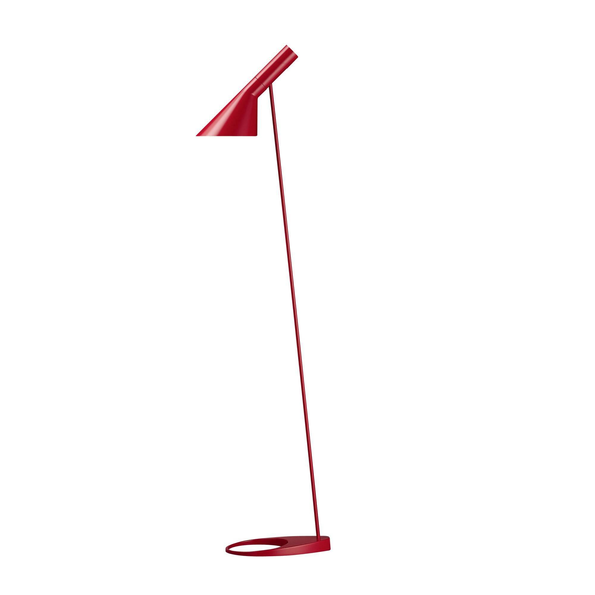 Напольный светильник AJ 2Напольные<br>Датский архитектор Арне Якобсен, чьи проекты получили мировое признание, в середине прошлого века стал разрабатывать предметы интерьера. Основное направление его деятельности — стиль хай-тек.<br><br><br> Замечательное творение автора — это напольный светильник AJ 2. Тонкая длинная ножка позволяет устанавливать его в гостиных и столовых, в спальнях и детских комнатах. Небольшая плоская основа надежно удерживает общую конструкцию и не позволяет светильнику опрокинуться. Светильник может занять с...<br><br>stock: 0<br>Высота: 130<br>Ширина: 27.5<br>Количество ламп: 1<br>Материал абажура: Металл<br>Мощность лампы: 60<br>Ламп в комплекте: Нет<br>Напряжение: 220-240<br>Тип лампы/цоколь: E27<br>Цвет абажура: Красный<br>Цвет провода: Черный