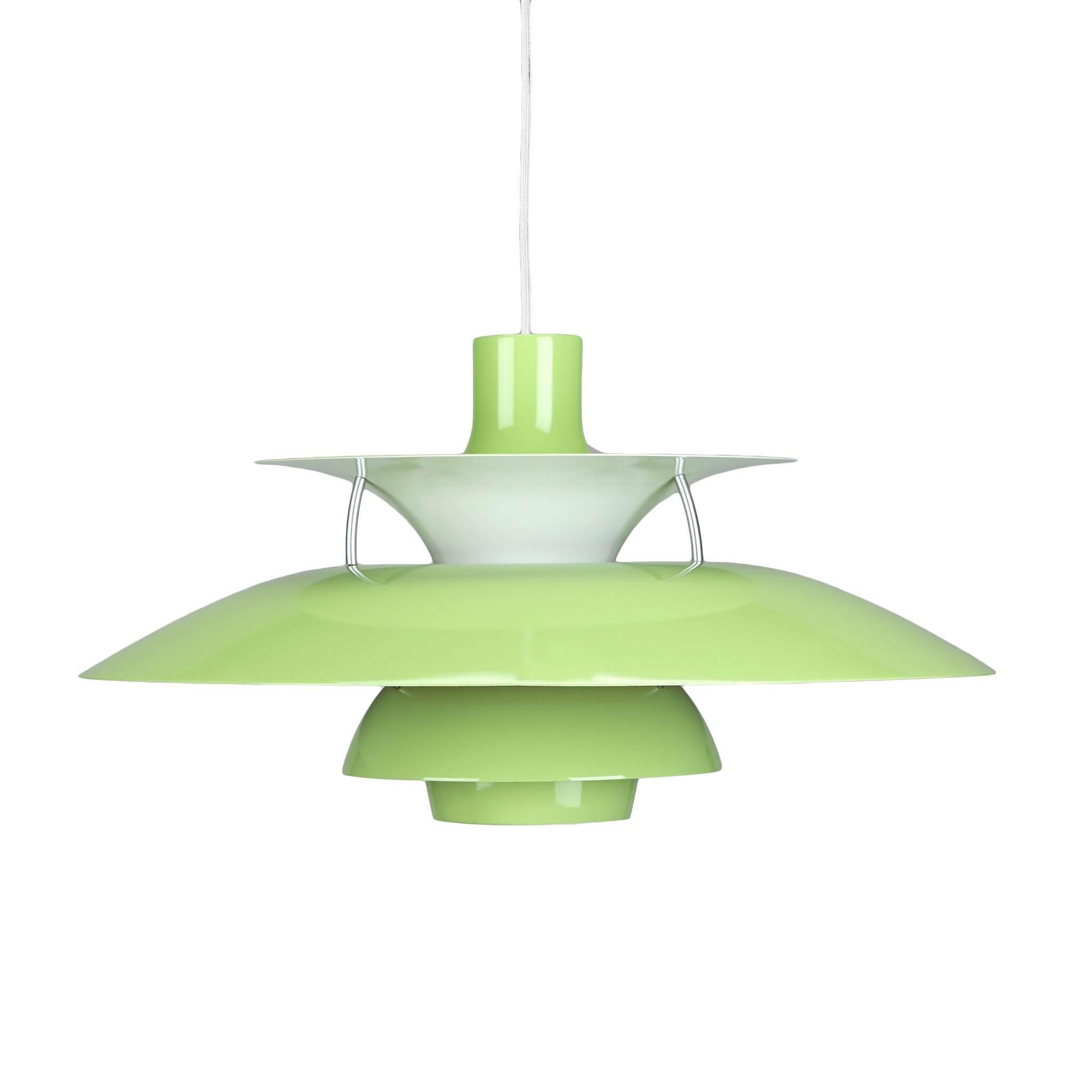 Подвесной светильник PH 50Подвесные<br>Подвесной светильник PH 50 — это одна из самых известных моделей светильников, созданных знаменитым скандинавским дизайнером Поулем Хеннингсеном. Главные принципы, которыми руководствовался мастер при создании своих творений, заключаются в том, что освещение должно быть ярким, но мягким и приятным глазу. Светильники дизайнера дают спокойный, яркий и равномерный свет, который выгодно подчеркивает интерьер и создает в нем приятную дружелюбную атмосферу.<br><br><br> Подвесной светильник PH 50 изгот...<br><br>stock: 0<br>Высота: 28<br>Диаметр: 50<br>Доп. цвет абажура: Белый<br>Материал абажура: Алюминий<br>Ламп в комплекте: Нет<br>Цвет абажура: Светло-зеленый<br>Цвет провода: Белый