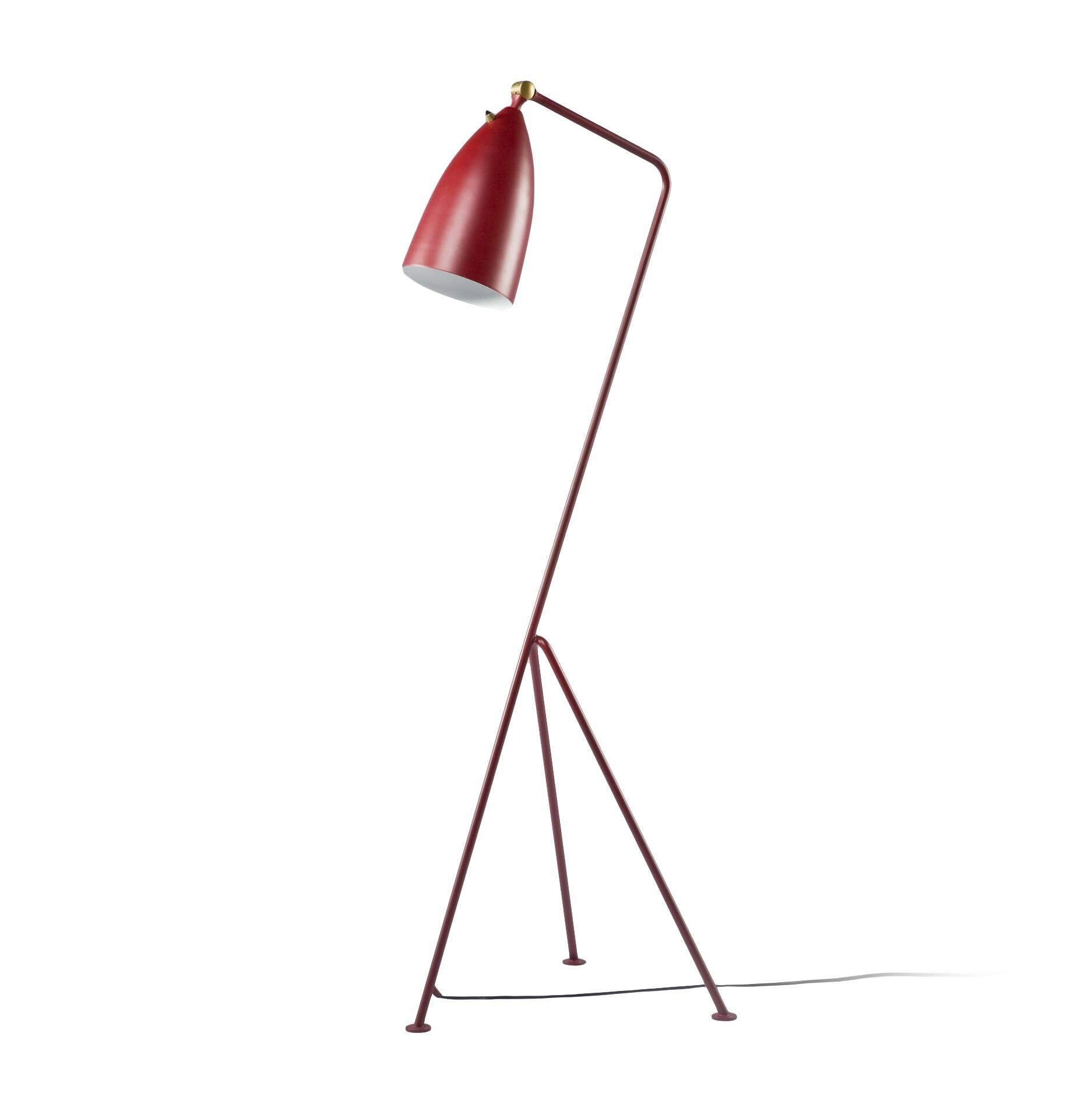 Напольный светильник Grashoppa высота 121Напольные<br>Напольный светильник Grashoppa высота 121 — это воспроизведение уникальной работы промышленного дизайнера Греты Магнуссон Гроссман. Он был создан в пятидесятых годах XX века и с тех пор не теряет популярности. Грета Гроссман сформировала эстетику «калифорнийского модернизма». Сама она находилась под большим влиянием модернизма европейского. Копии работы Греты Гроссман очень трудно найти — как правило, они создавались малыми партиями под проекты этого дизайнера, поэтому компания Cosmo очень...<br><br>stock: 0<br>Высота: 121<br>Ширина: 31<br>Длина: 44<br>Количество ламп: 1<br>Материал абажура: Алюминий<br>Материал арматуры: Сталь<br>Мощность лампы: 60<br>Ламп в комплекте: Нет<br>Тип лампы/цоколь: E27<br>Цвет абажура: Красный<br>Цвет арматуры: Красный<br>Цвет провода: Черный